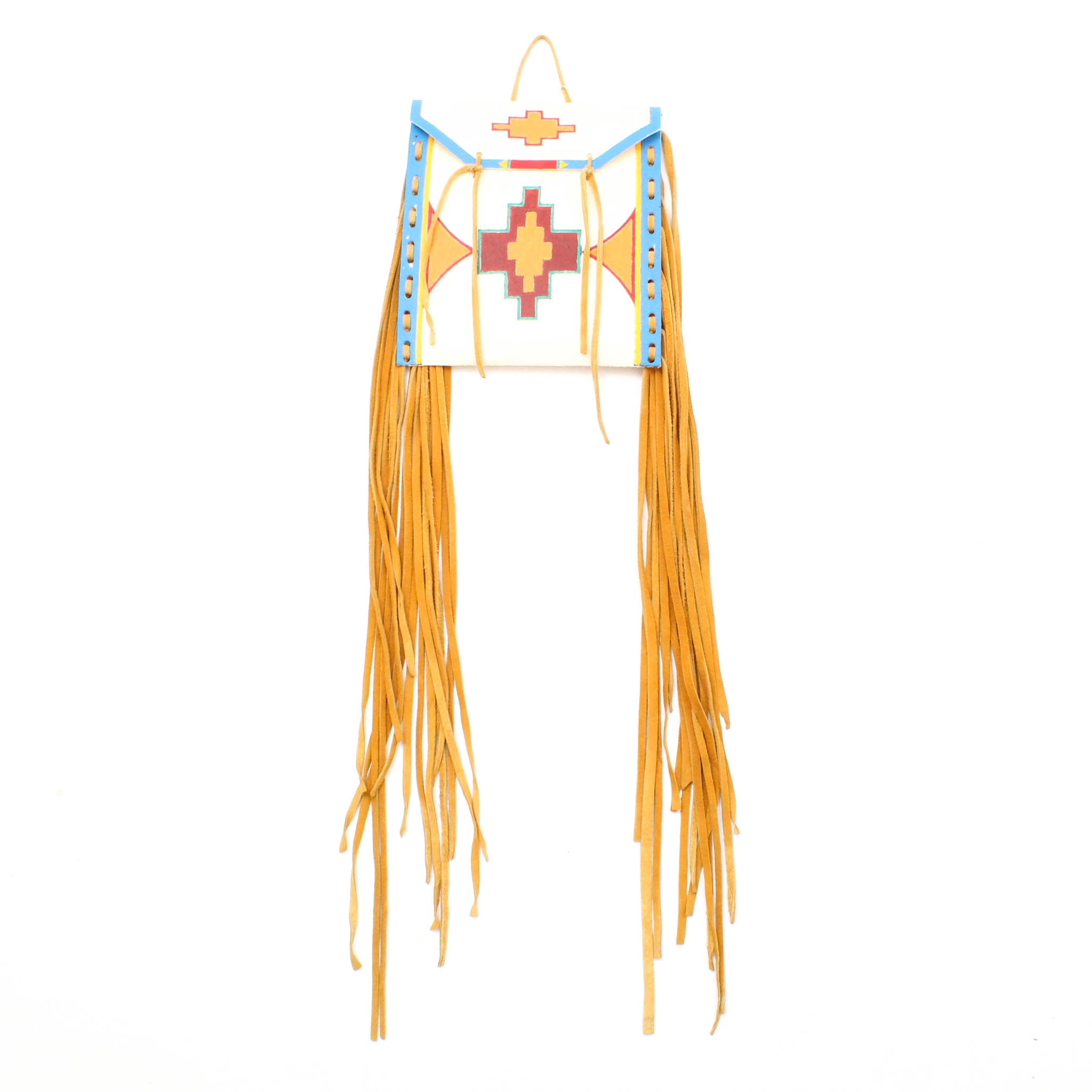 Lance Many Crows Native American Hand Painted Parafleche Bag