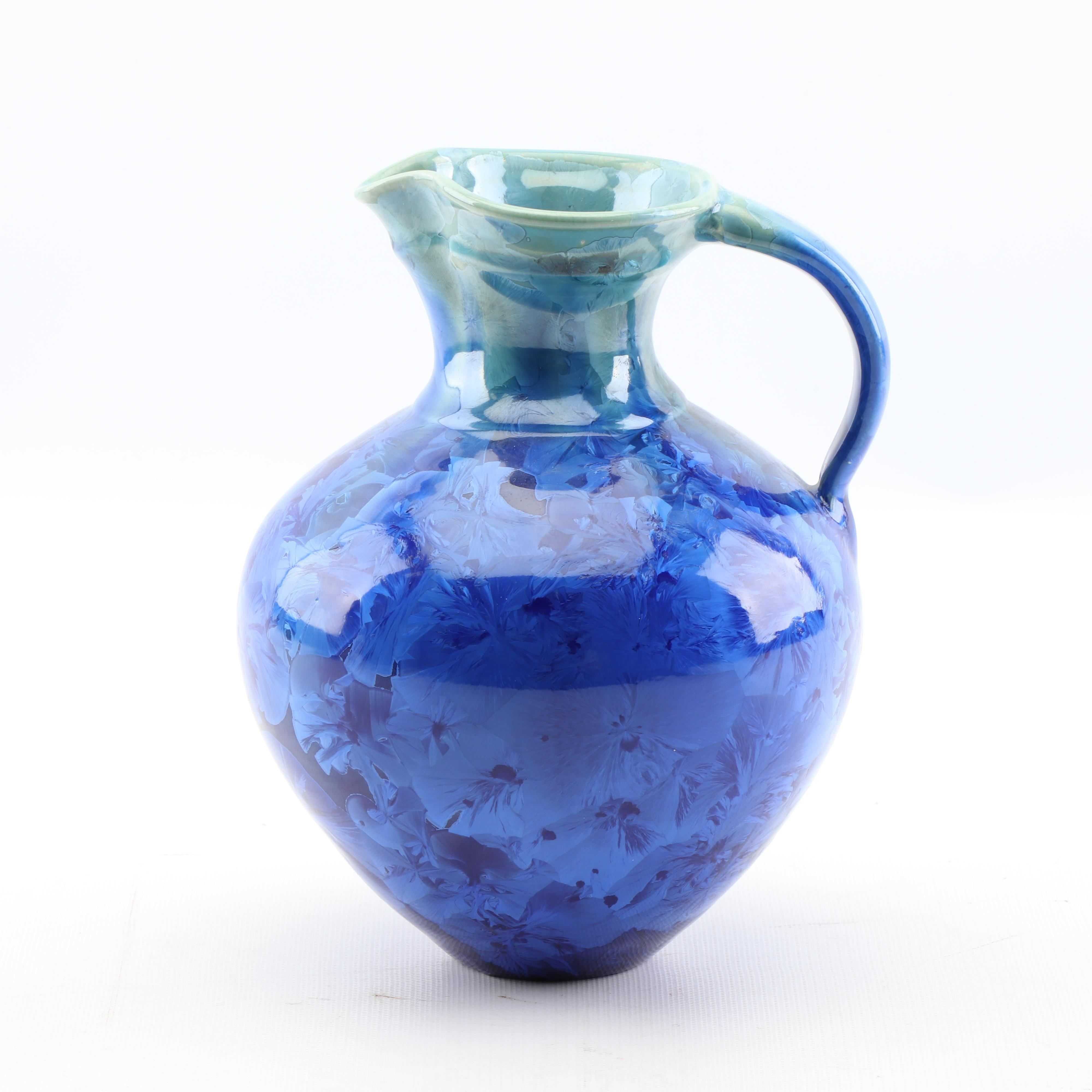 Phil Morgan Crystalline Glazed Porcelain Pitcher
