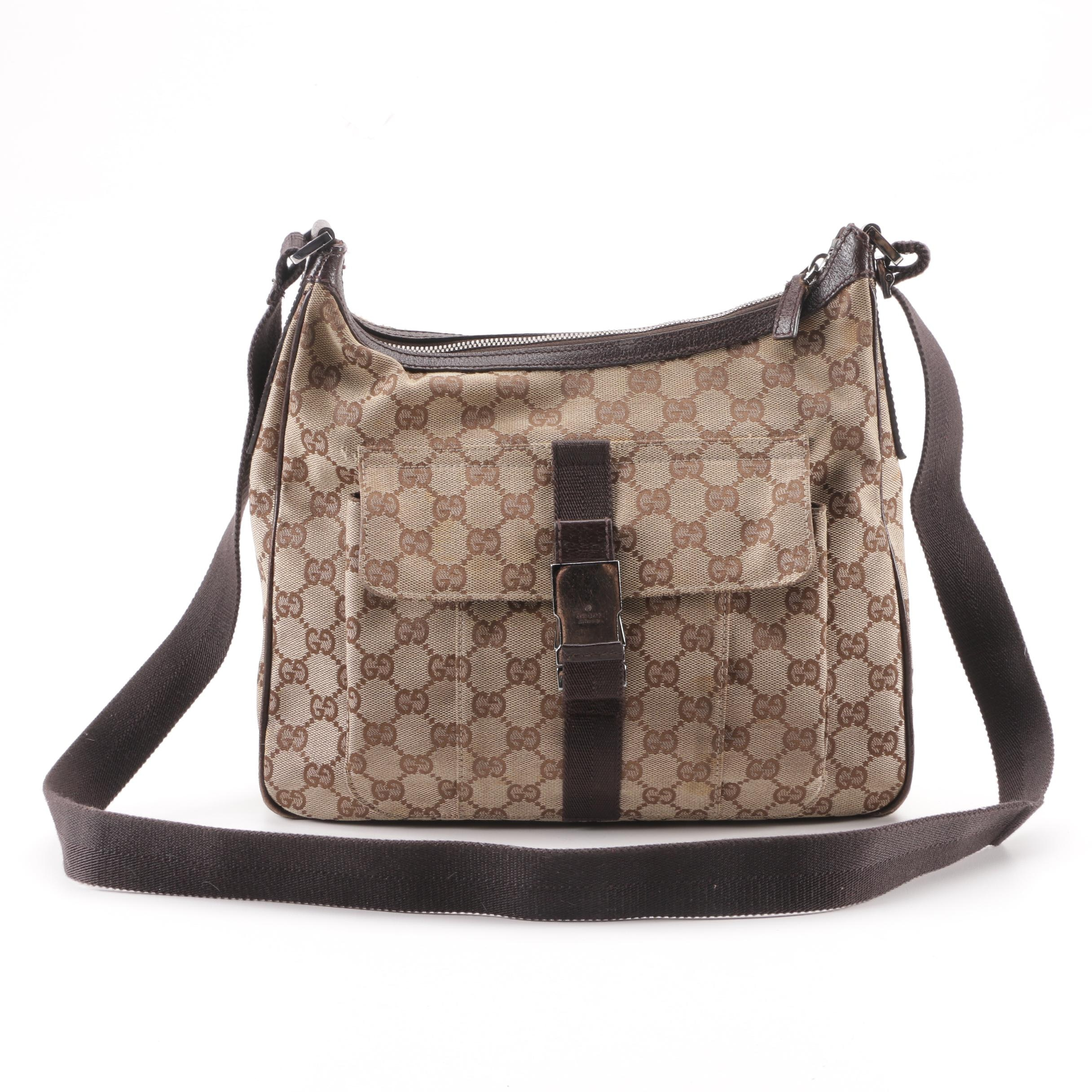 Late 20th Century Gucci GG Canvas Hobo Shoulder Bag