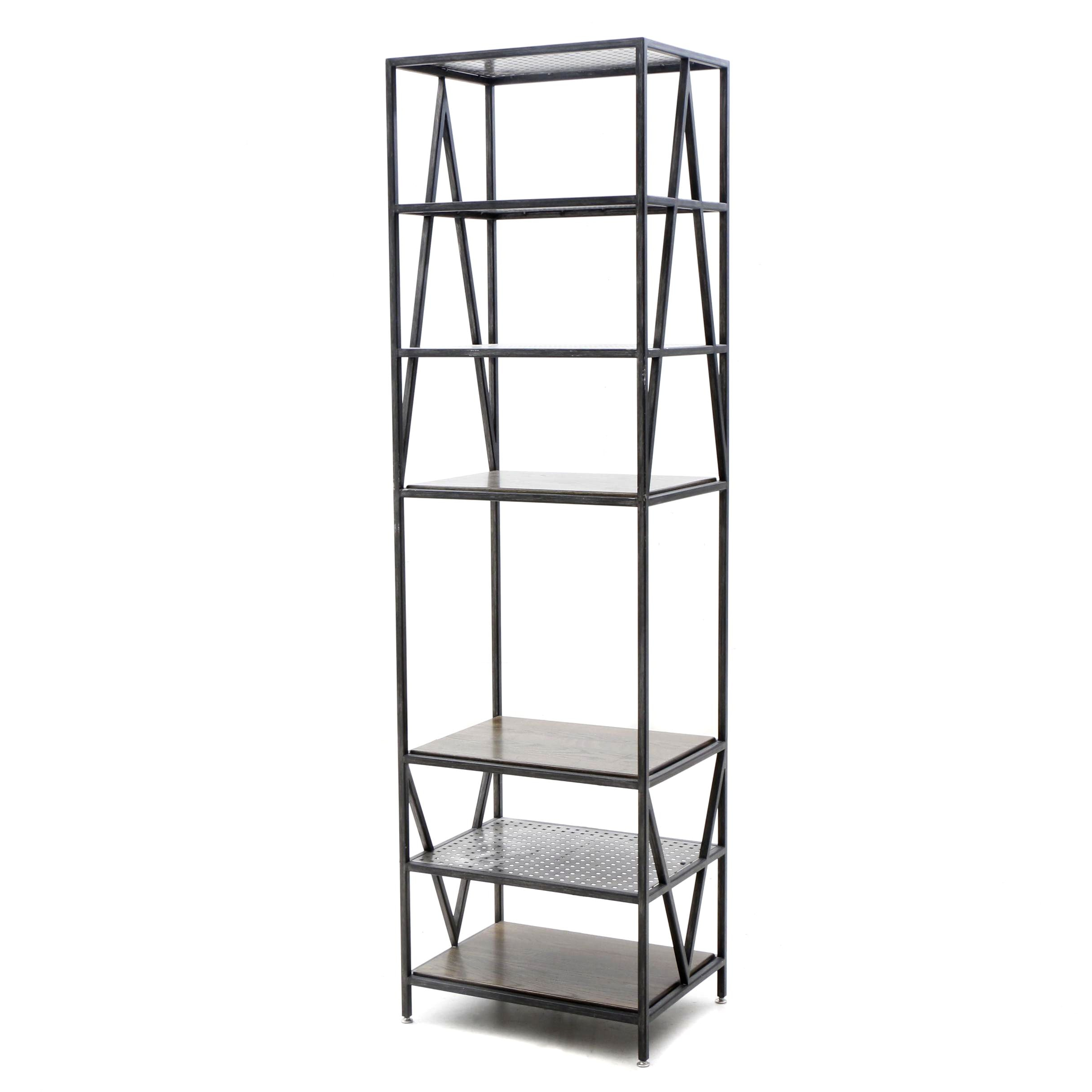 Industrial Style Etagere Shelving Unit