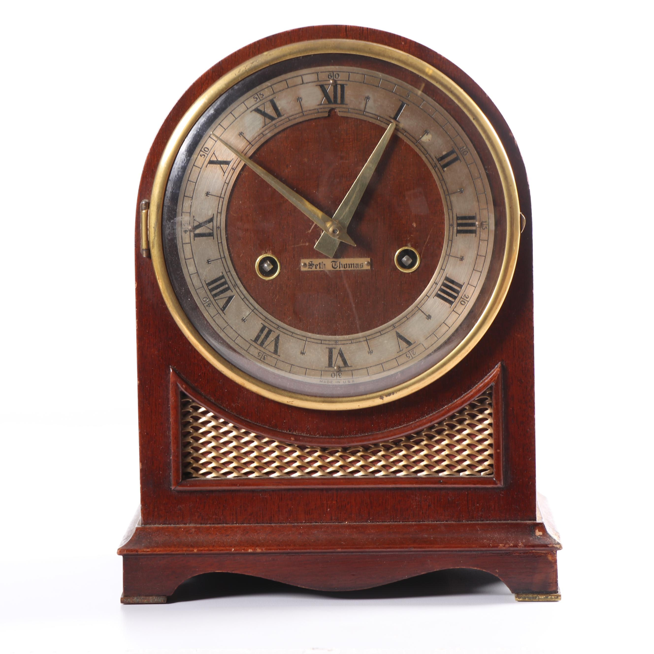 "Seth Thomas ""Northbury"" Electric Chime Mantel Clock, circa 1950"