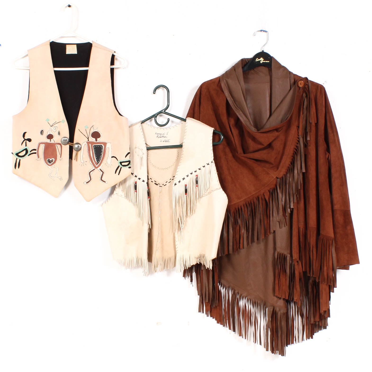 Handmade Southwestern-Style Vests and Fringed Jacket