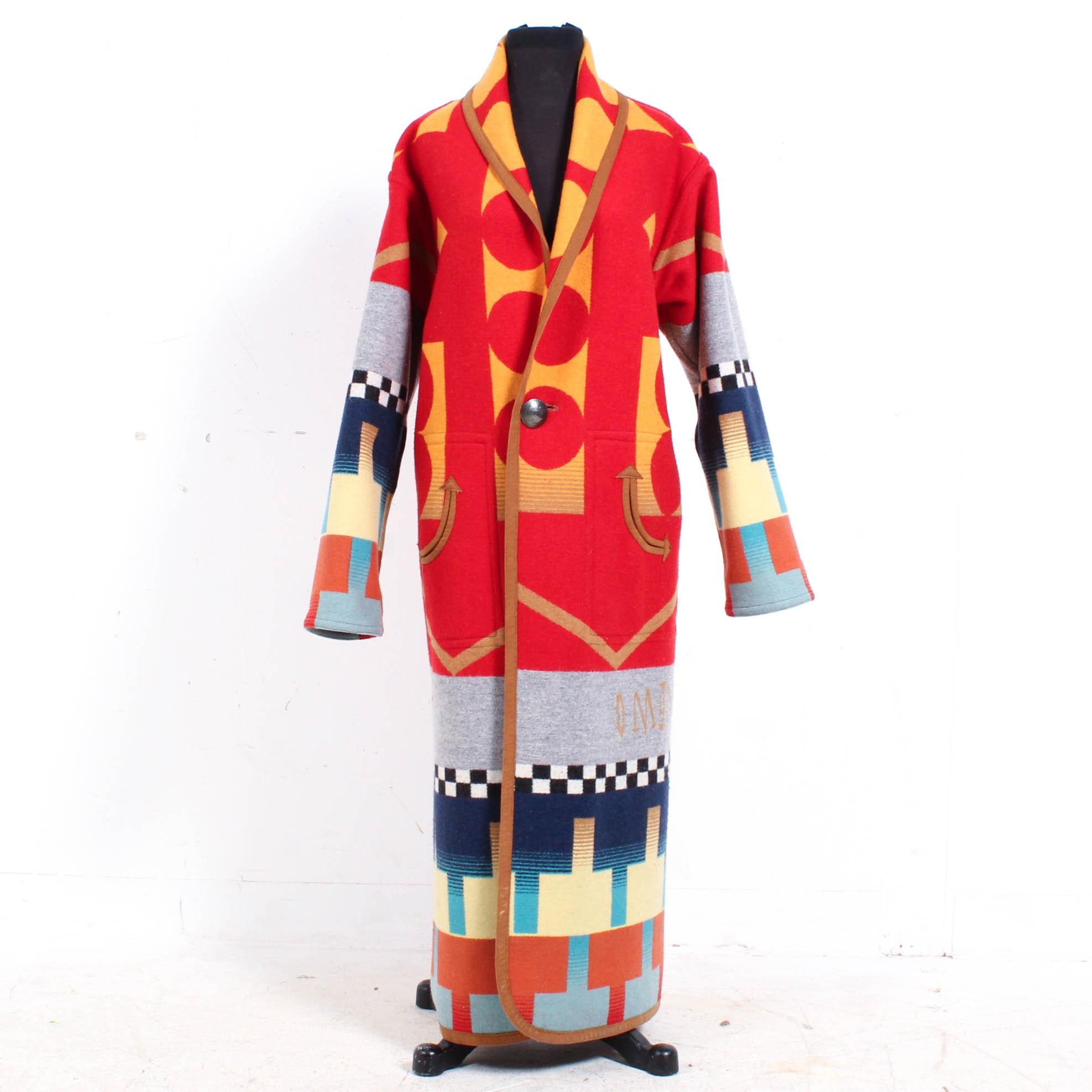Pendleton Southwestern-Style Reversible Blanket Coat