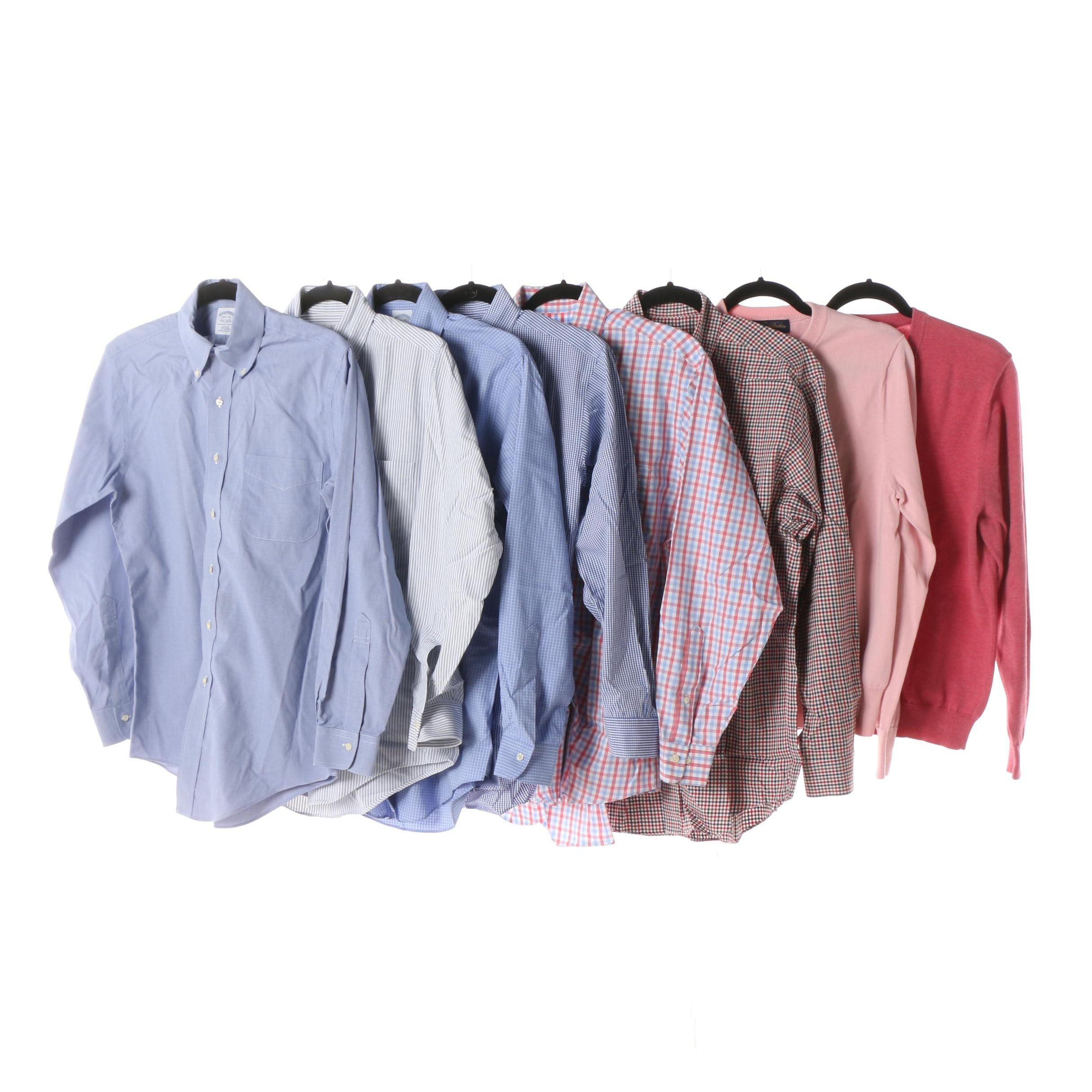 Men's Brooks Brothers Cotton Dress Shirts and Sweaters