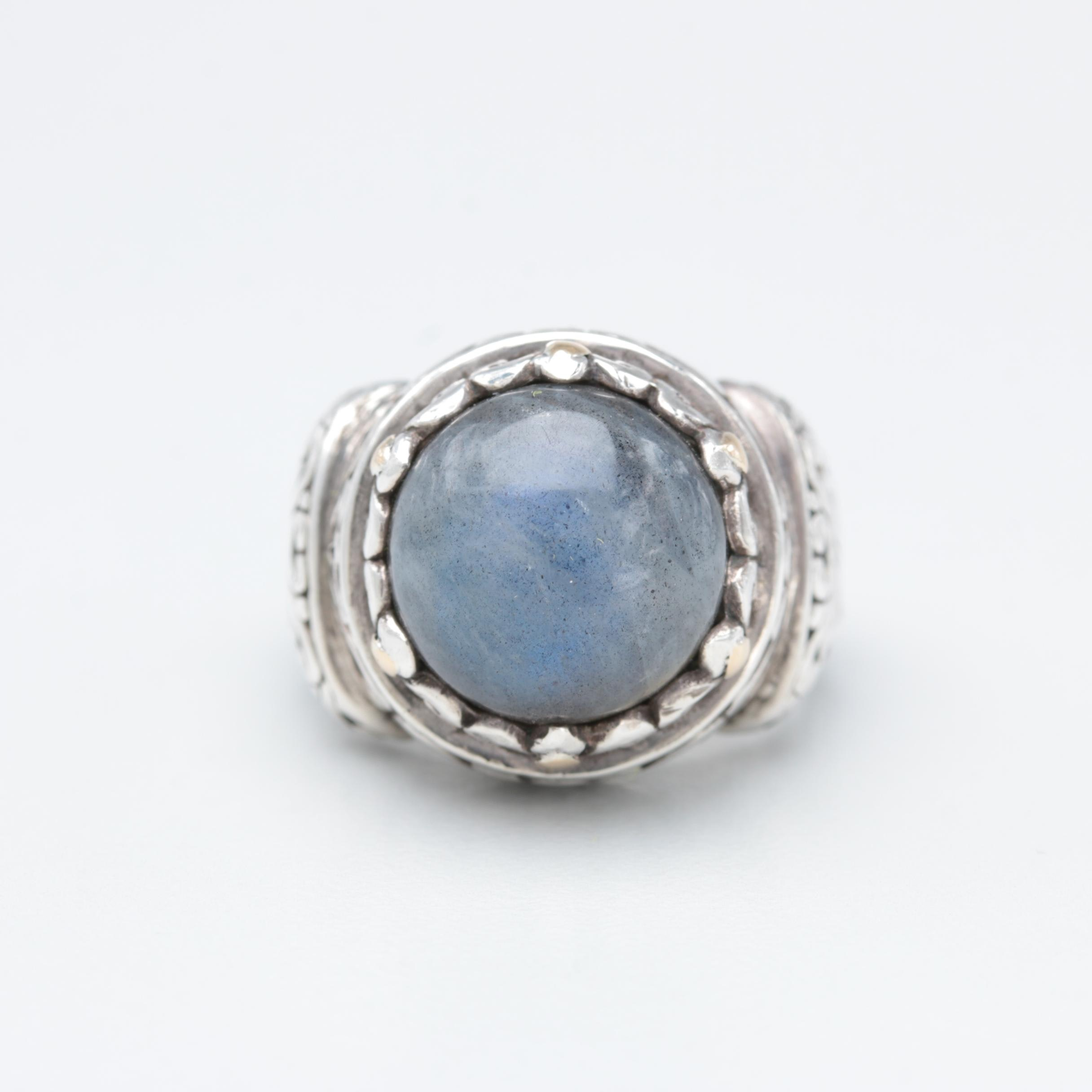 Robert Manse Sterling Silver Labradorite Ring with 18K Accents