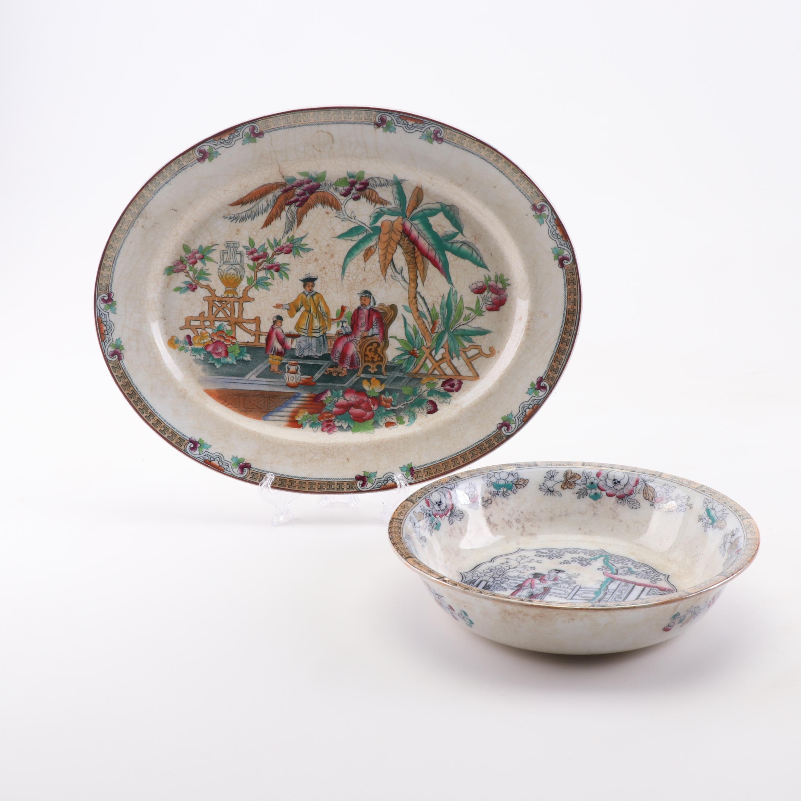 Pekin Chinese Server and Gildea Asian Wash Bowl