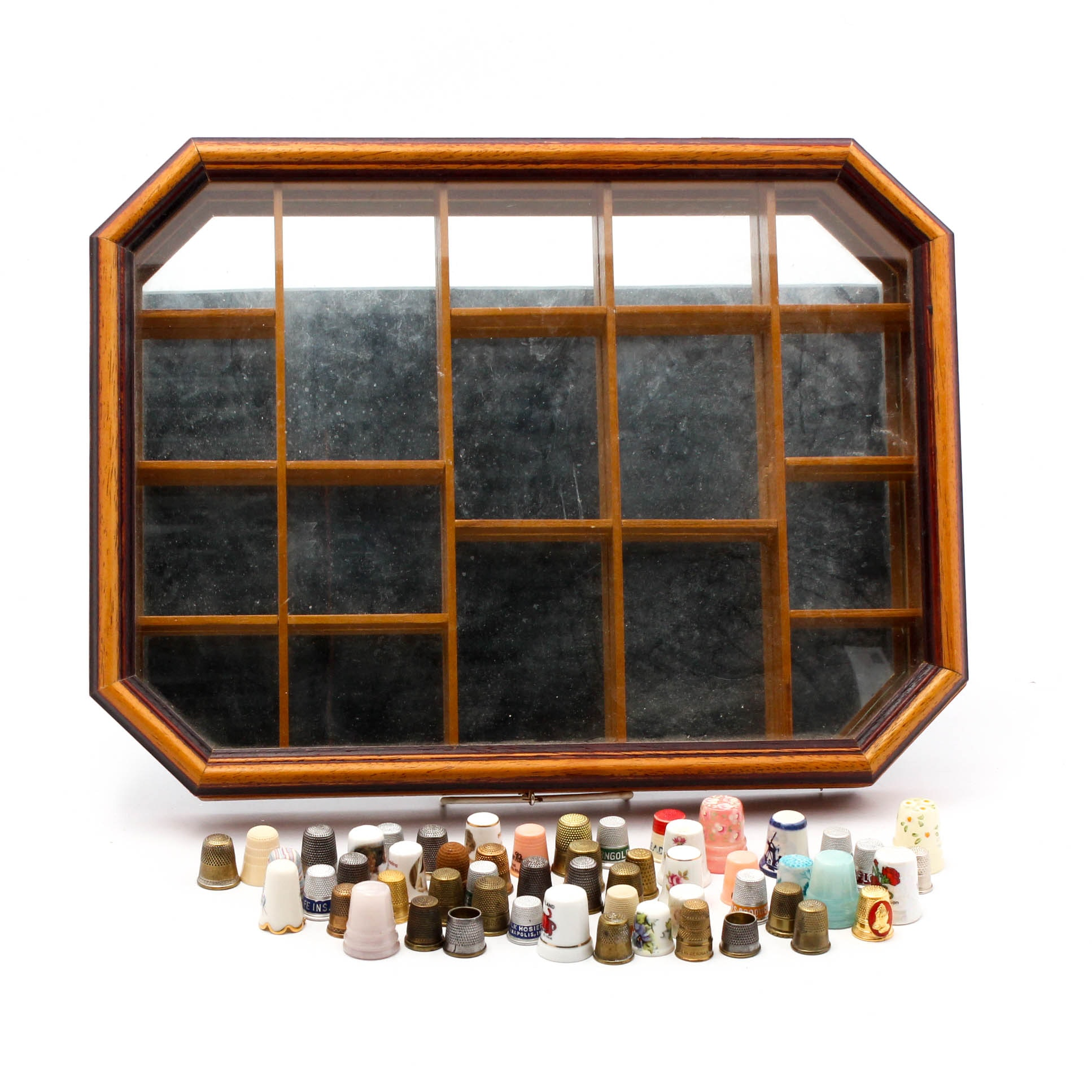 Thimble Collection with Display Case