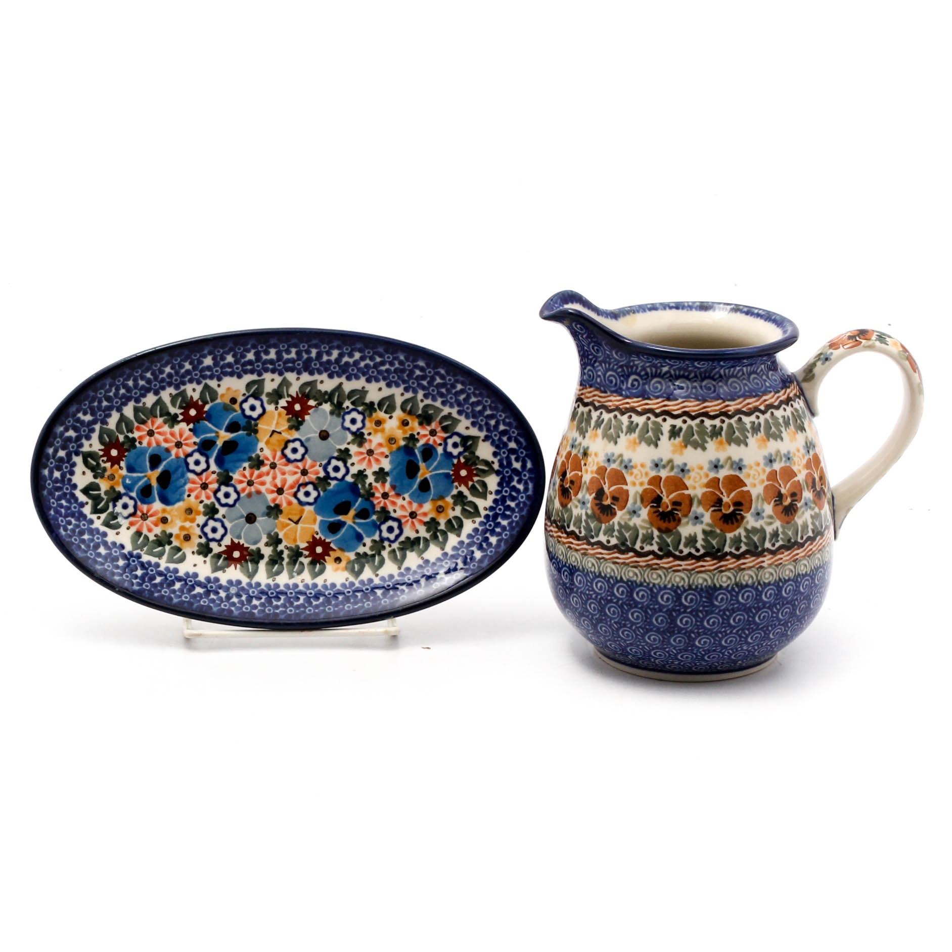 Hand-Painted Polish Unikat Pottery by Maria Starzyk