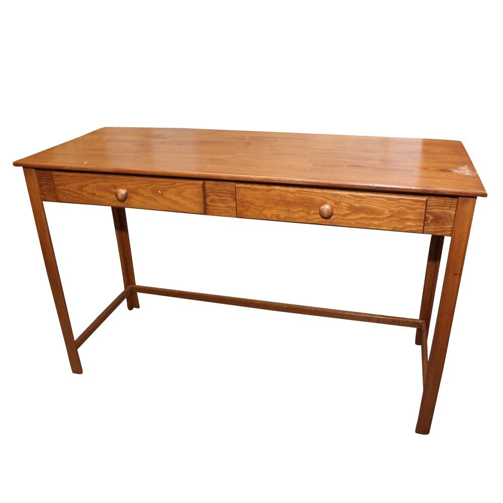 Tall Oak Console Table