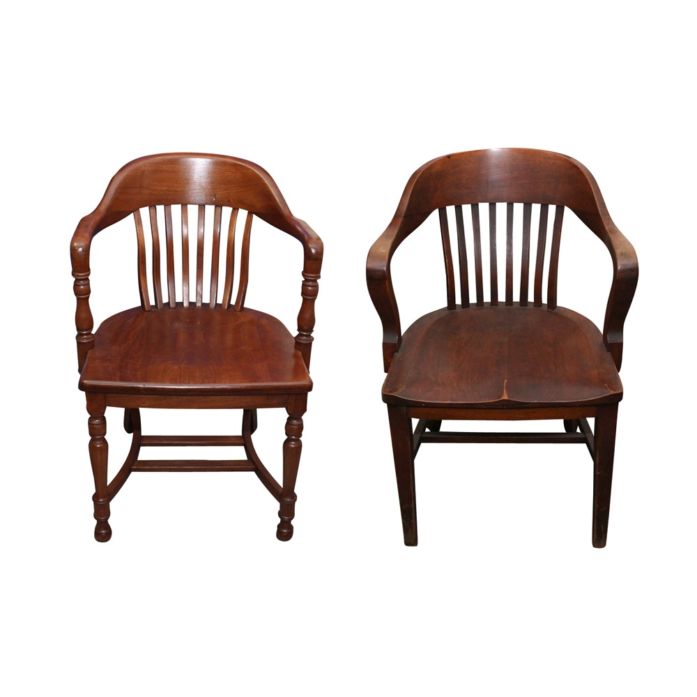 Pair of Vintage Wood Chairs Including Braun & Rutherford