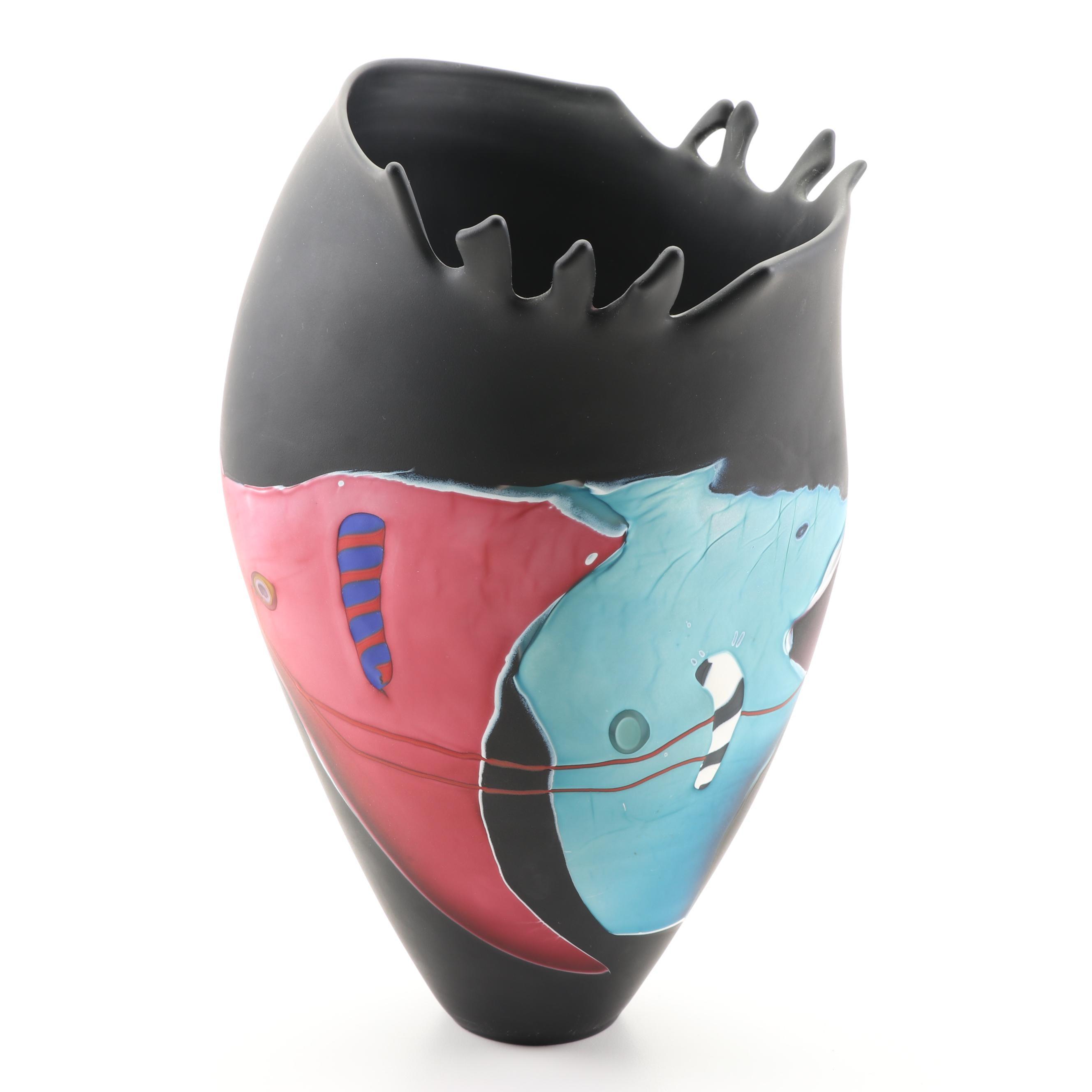 James Wilbat Art Glass Vase