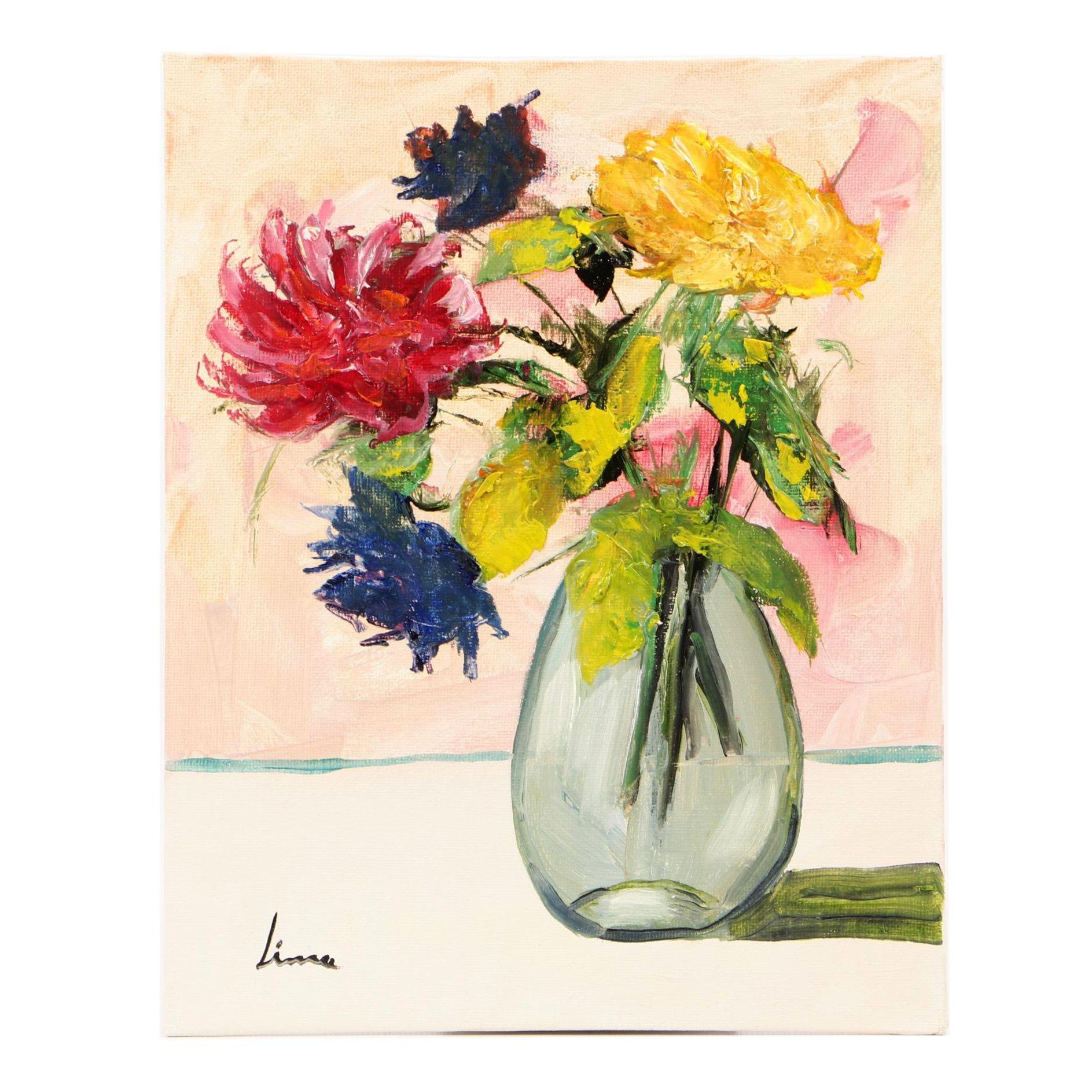 José M. Lima 2018 Oil Still Life Painting