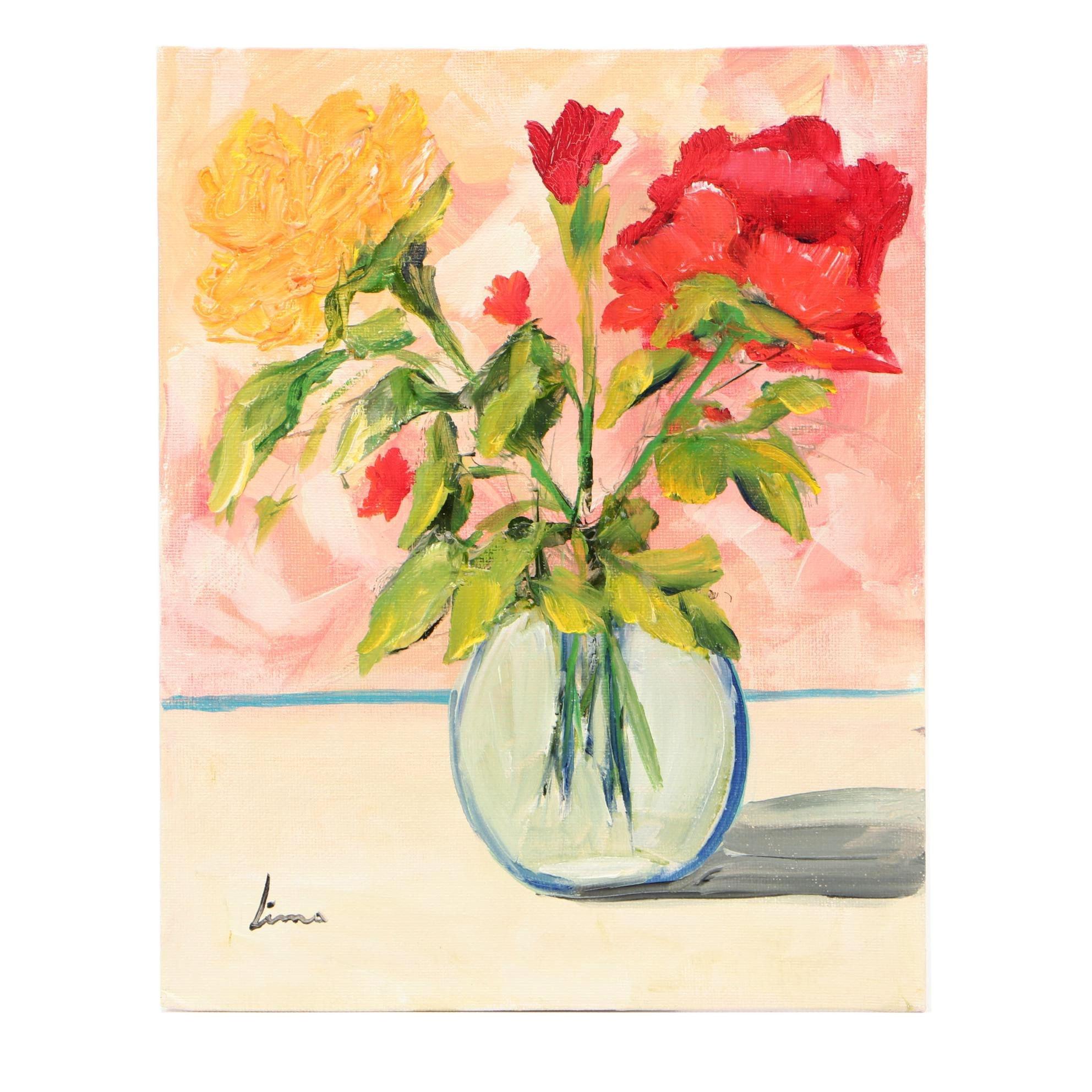 José M. Lima Oil Still Life Painting