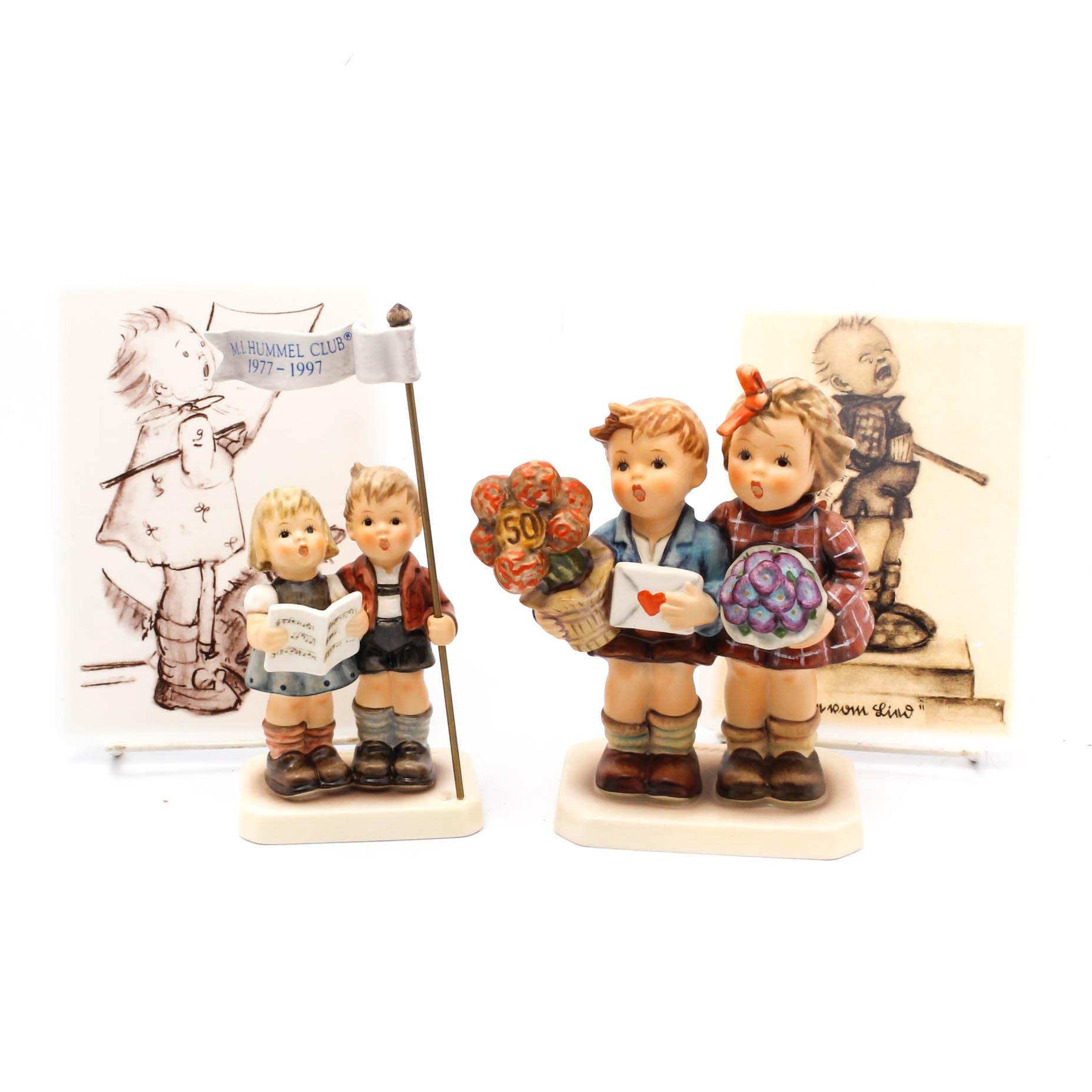 Pair of Hummel Figurines