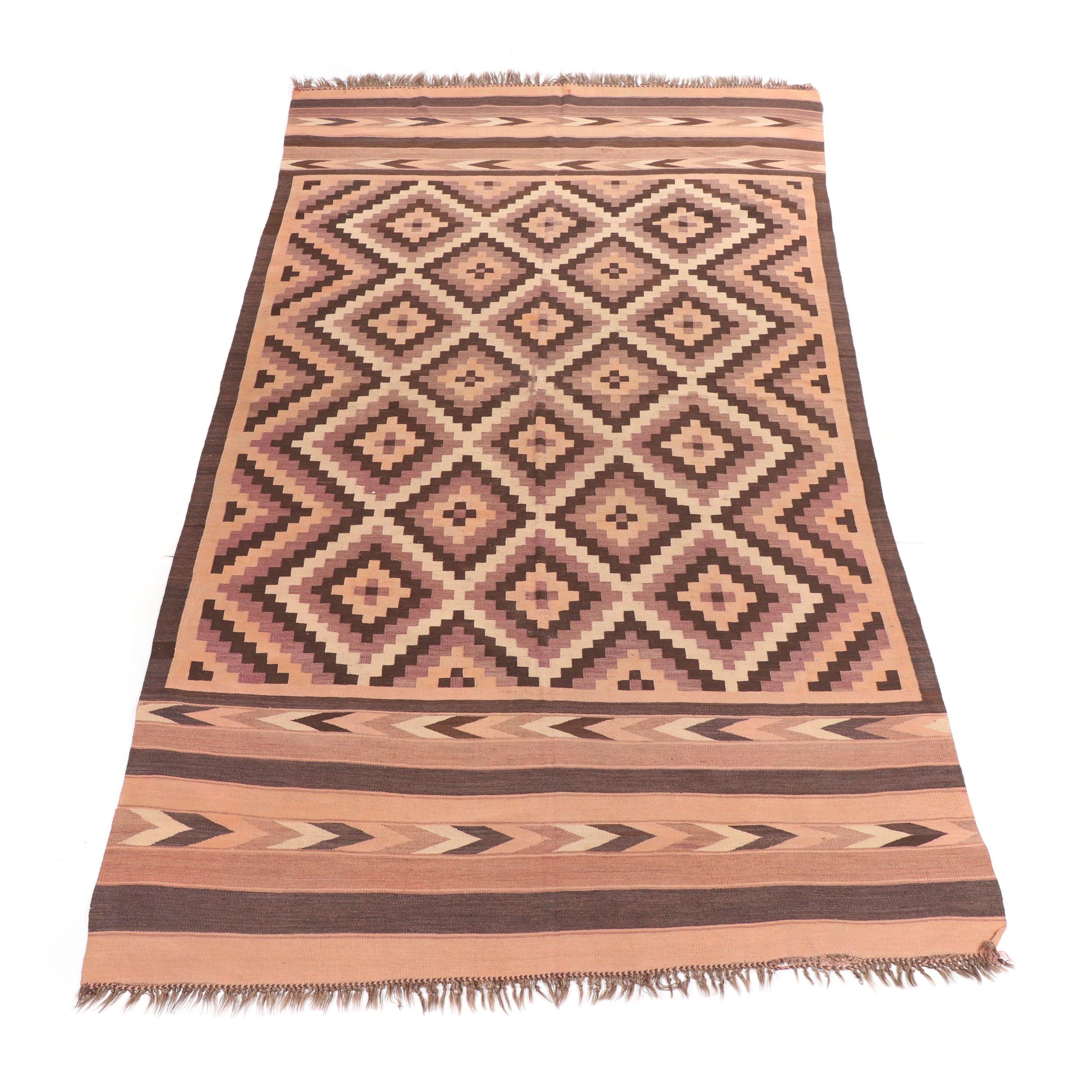 Handwoven Afghani Maimana Wool Kilim