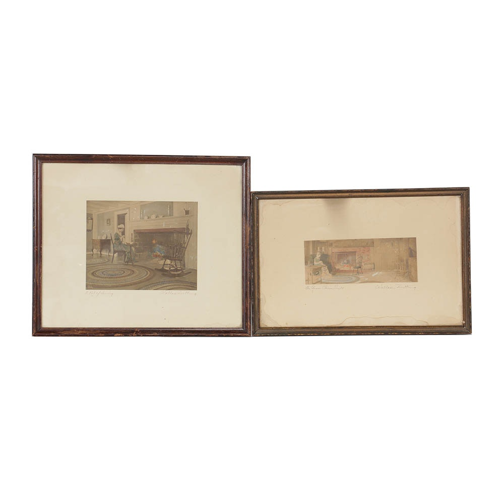 Wallace Nutting Hand Painted Photographs