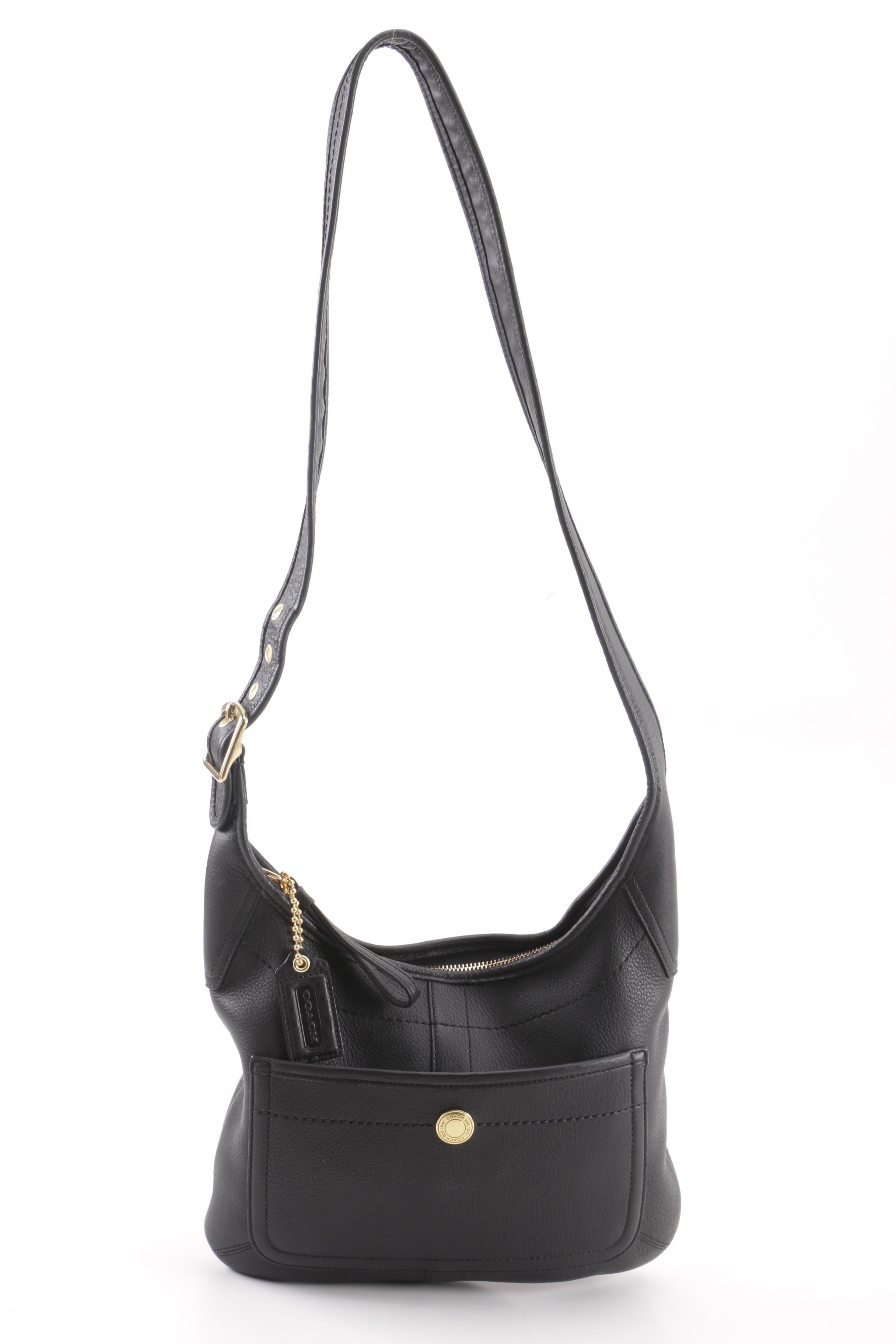 2008 Coach Black Leather Hobo Shoulder Bag