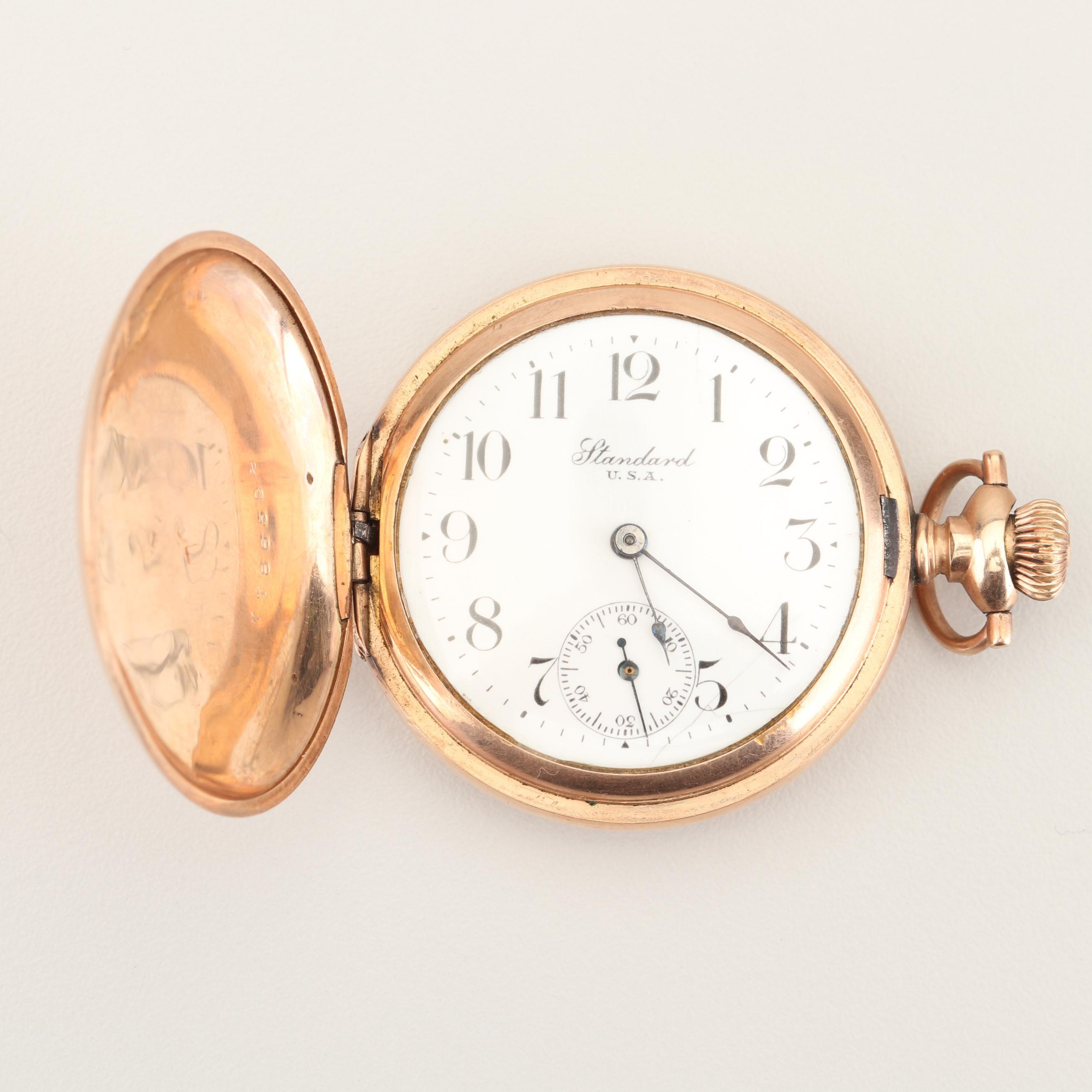 Antique Standard U.S.A. Gold Filled Pocket Watch
