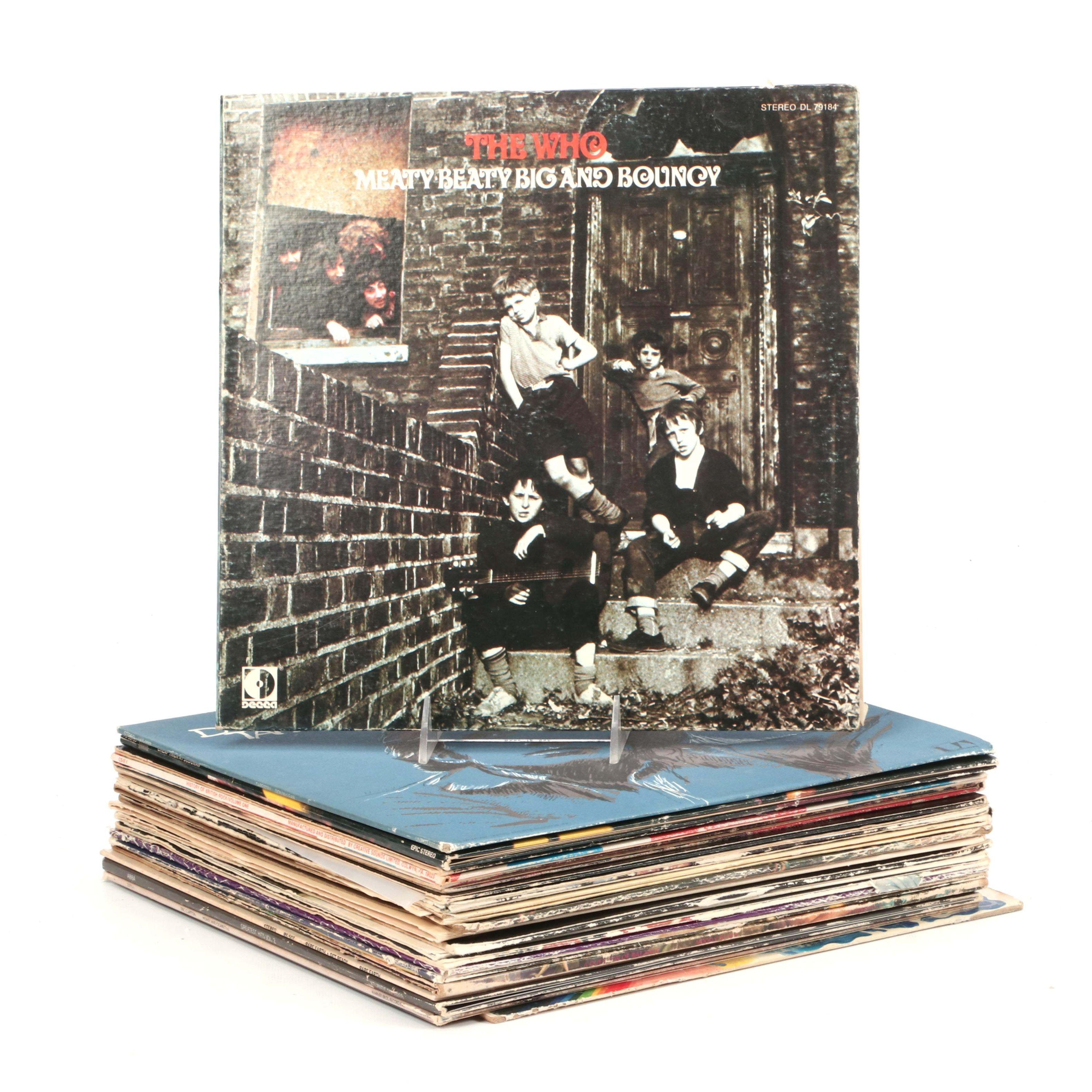1970s Rock and Classic Rock Records Including The Who, Elton John and More