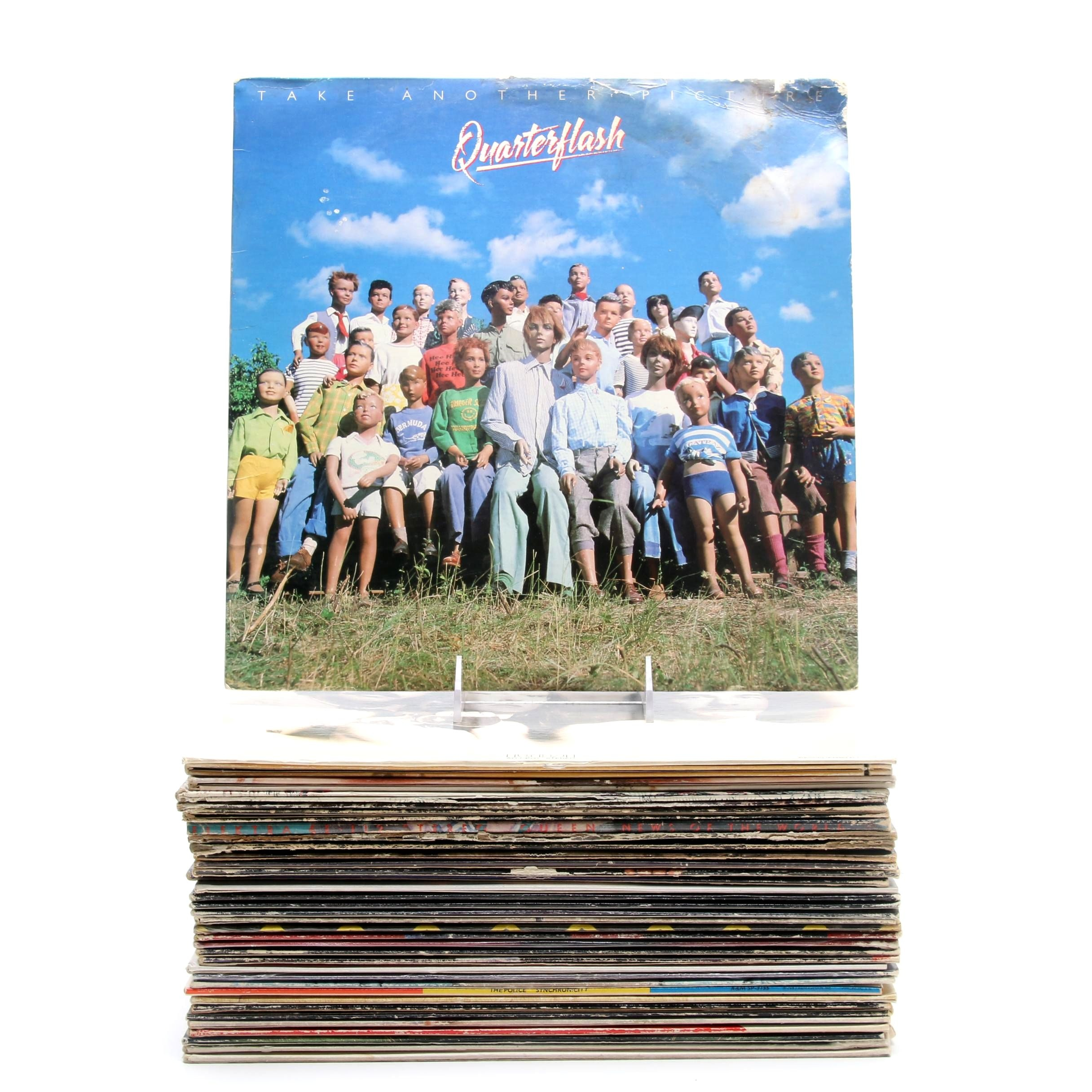 Rock and Pop Vinyl Records Including The Police and Van Halen