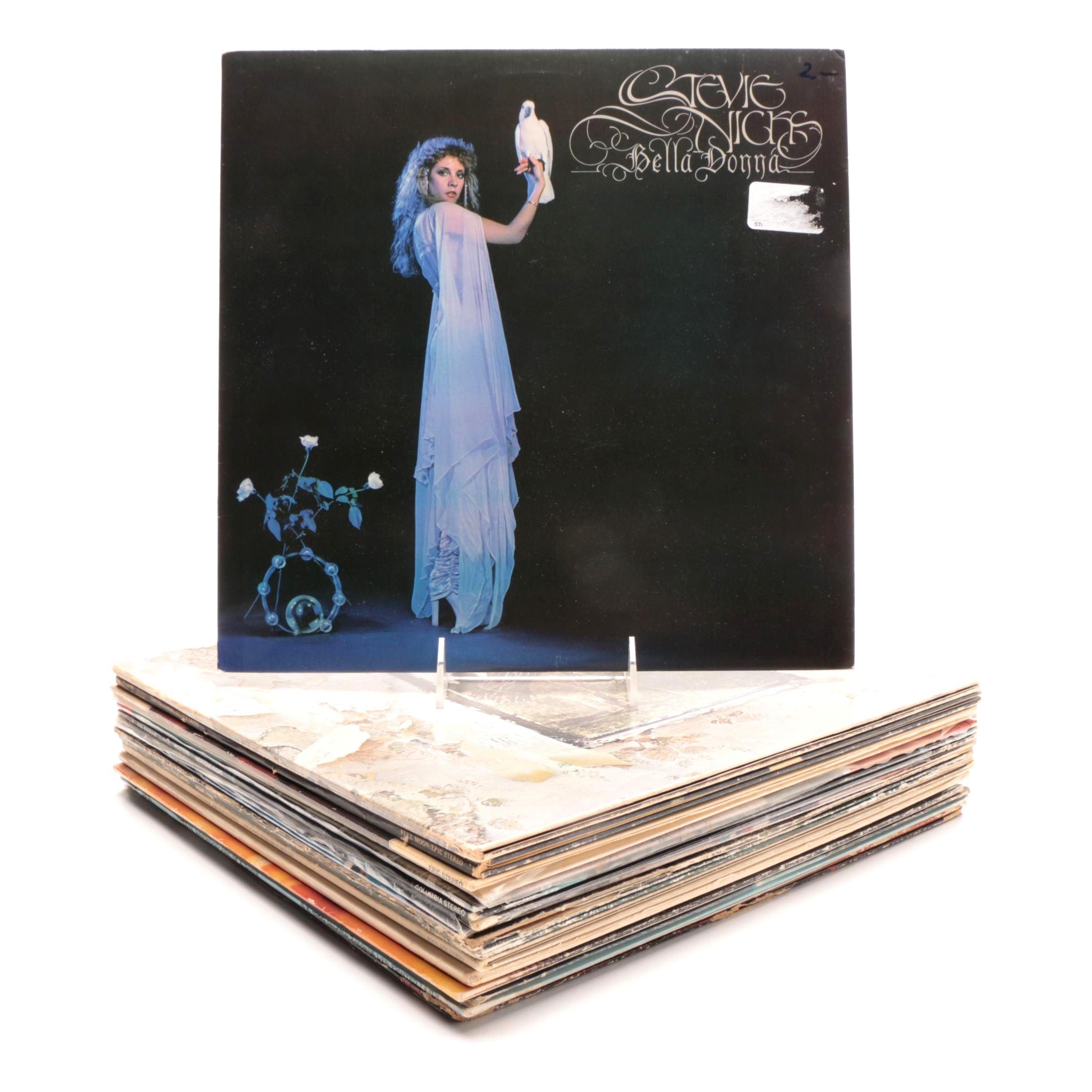 Rock/Folk Rock Records including Jackson Browne, Stevie Nicks, Dan Fogelberg