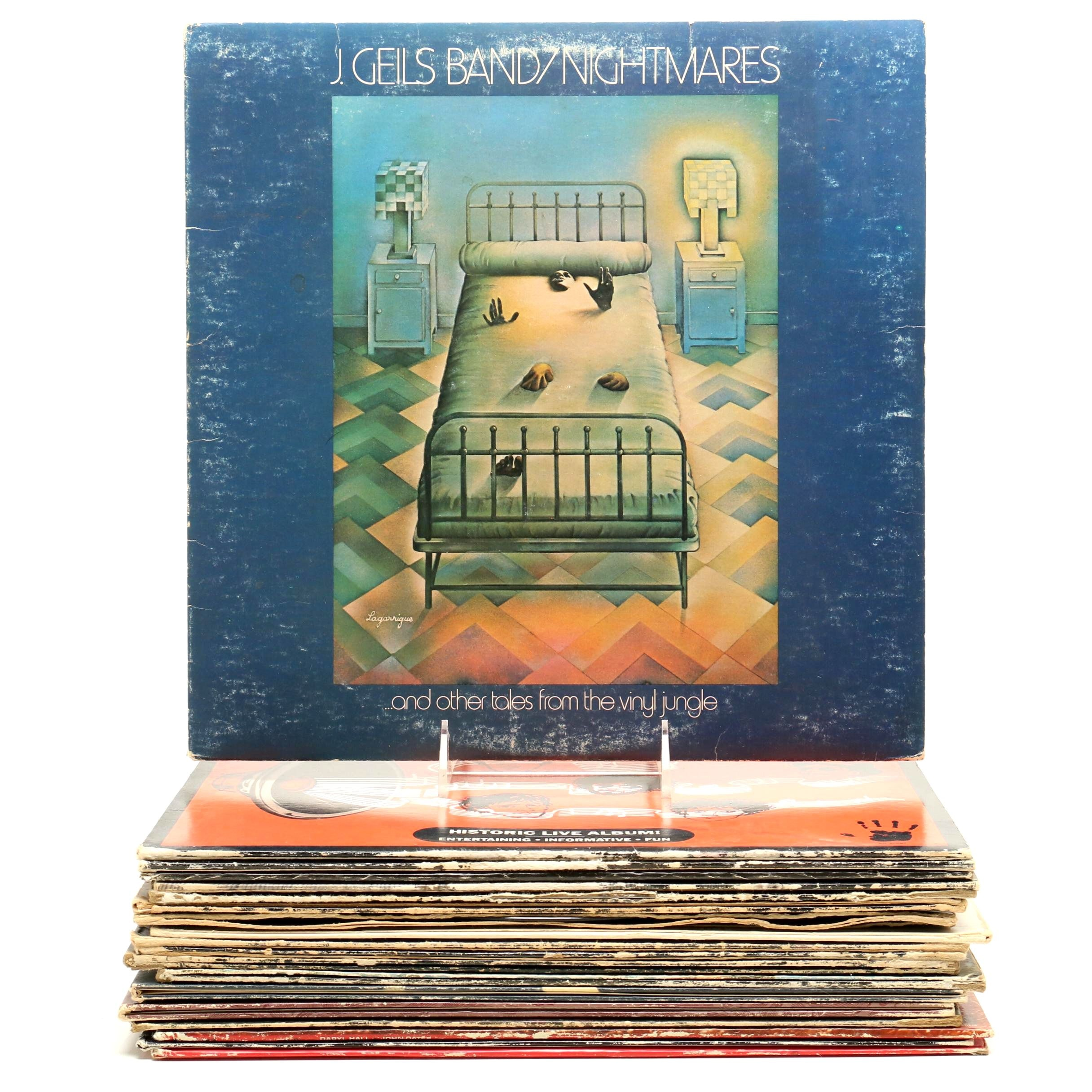Classic Rock LP Records Including Jefferson Starship and Jim Croce