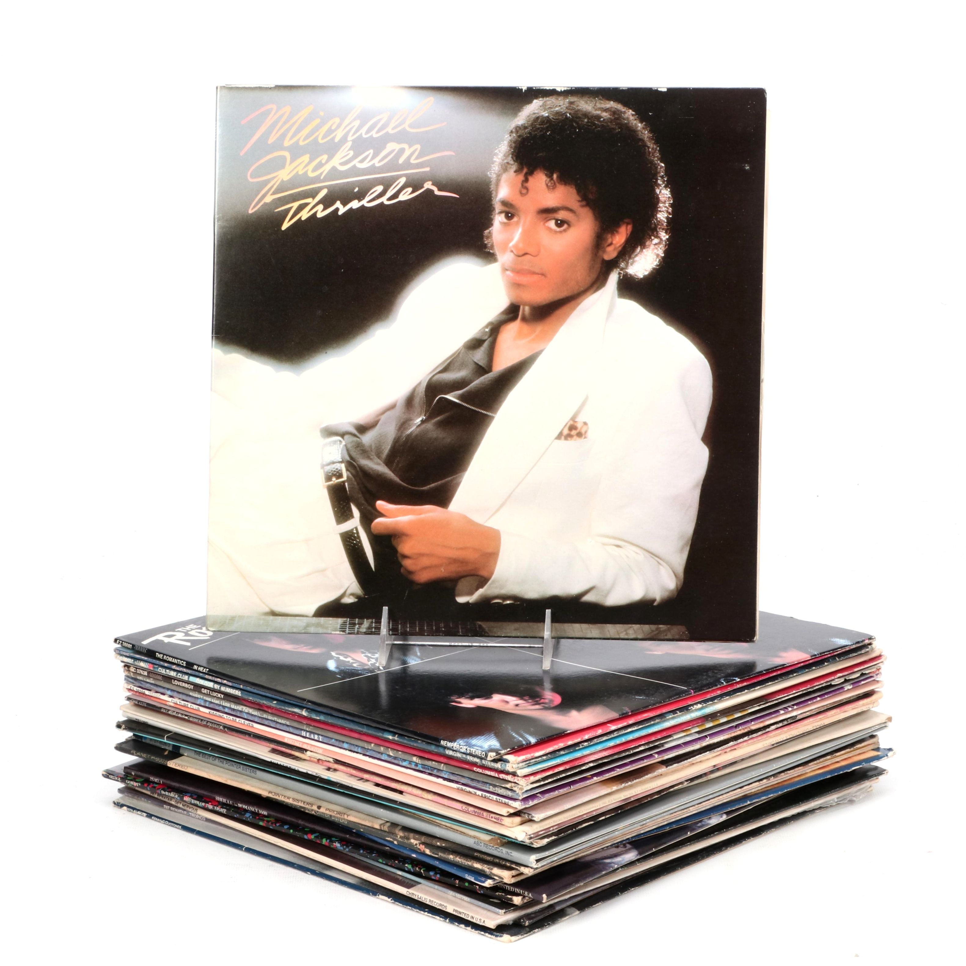 Early 1980s Rock and Pop LP Records including Michael Jackson Thriller