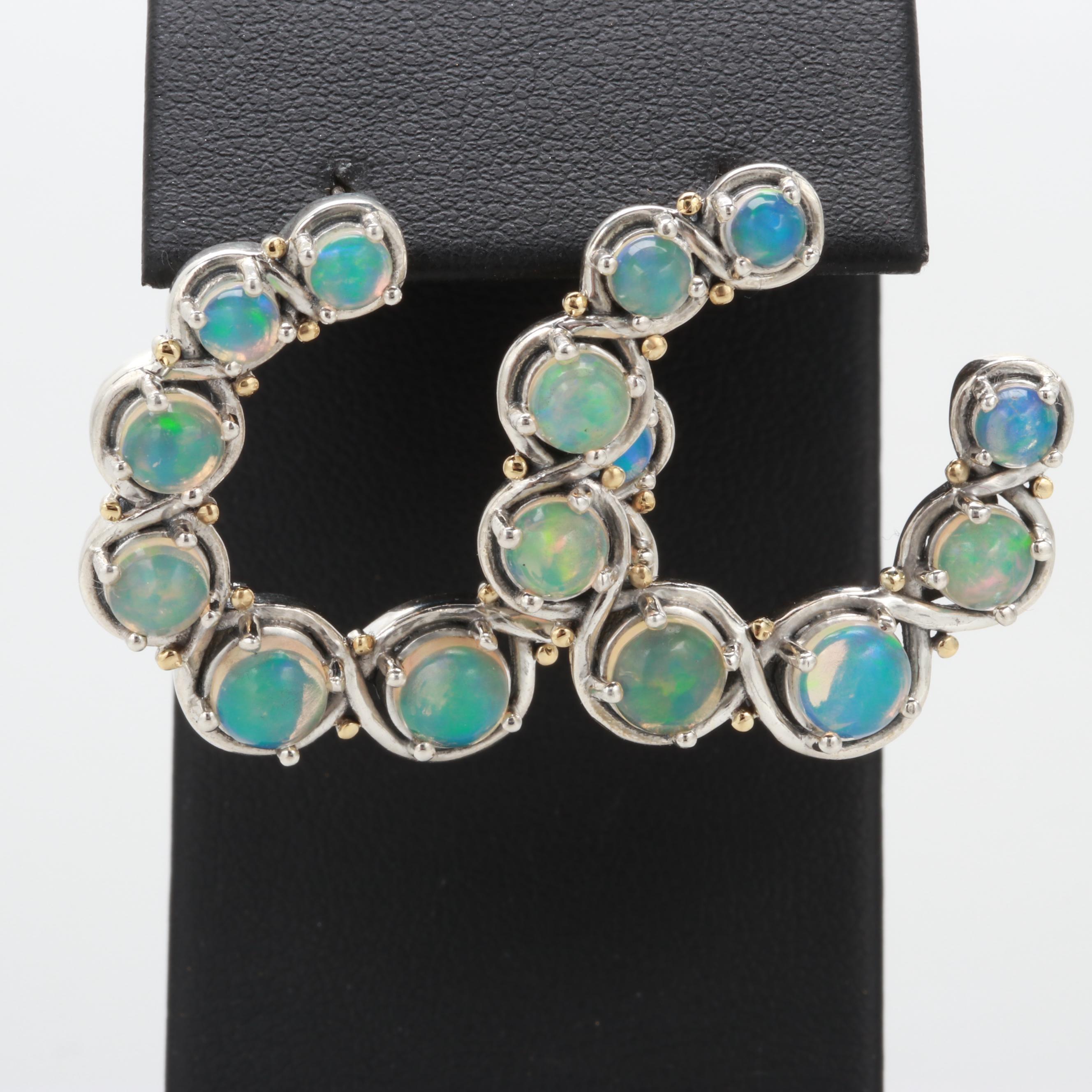 Robert Manse Sterling Silver Opal Earrings