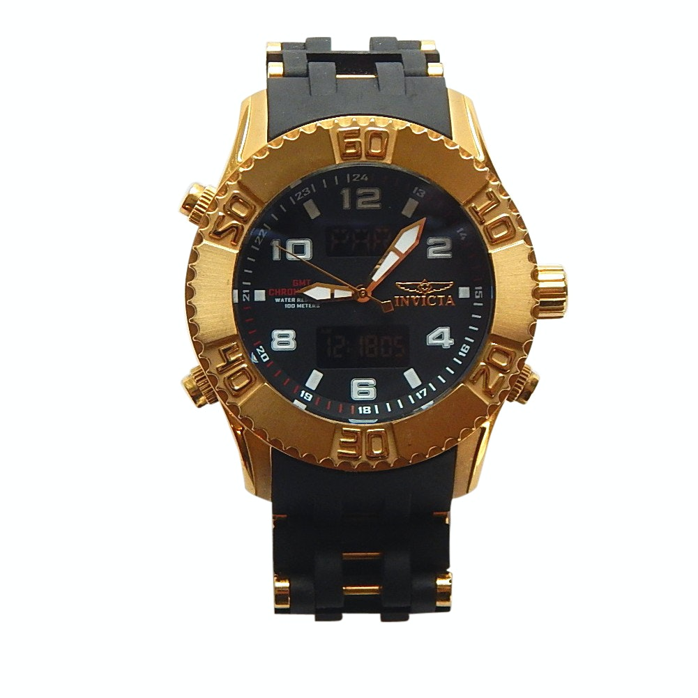 Invicta Sea Spider 5687 Gold Tone and Black Chronograph Wristwatch