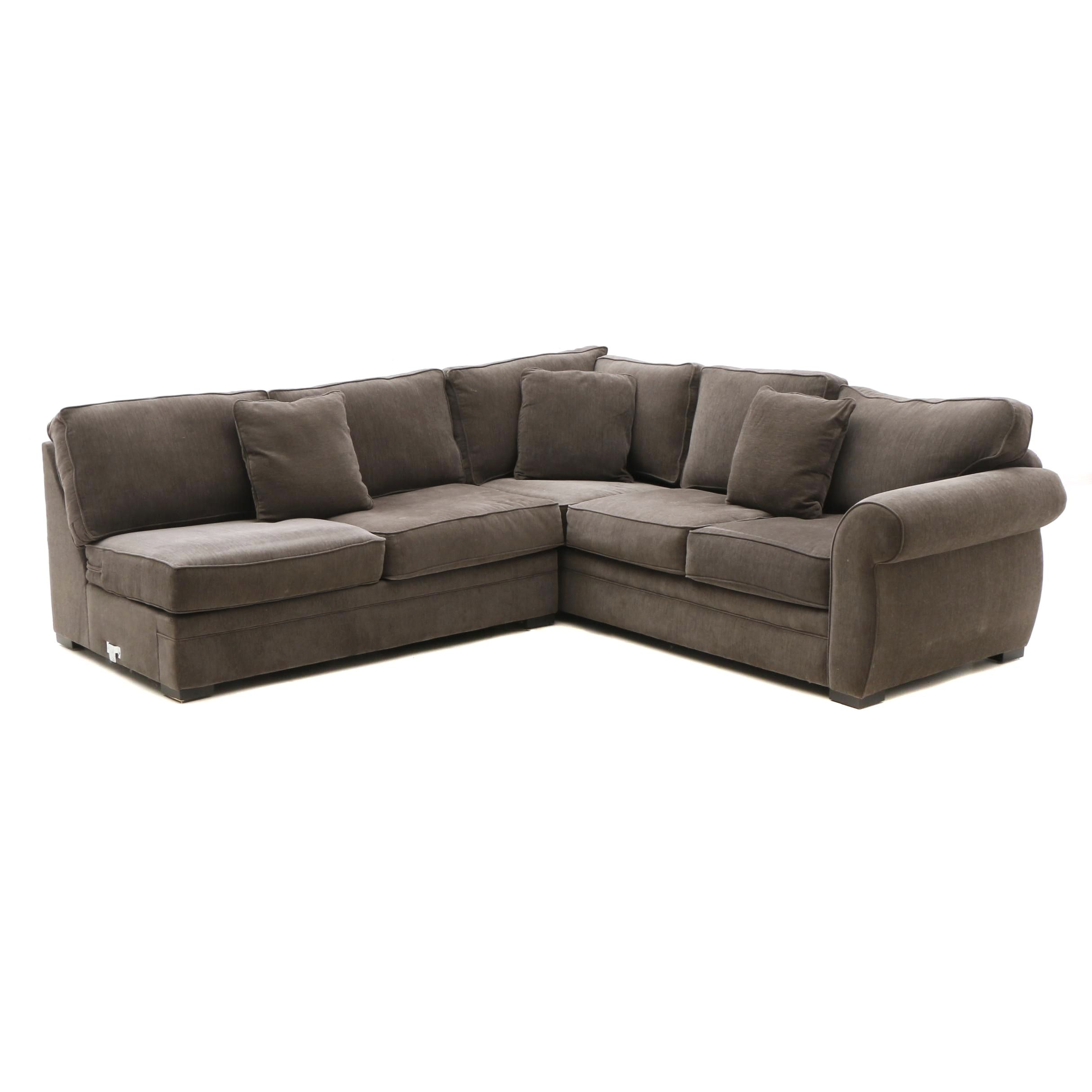 Two-Piece Sectional Sofa in Gray by Jonathan Louis Inc.