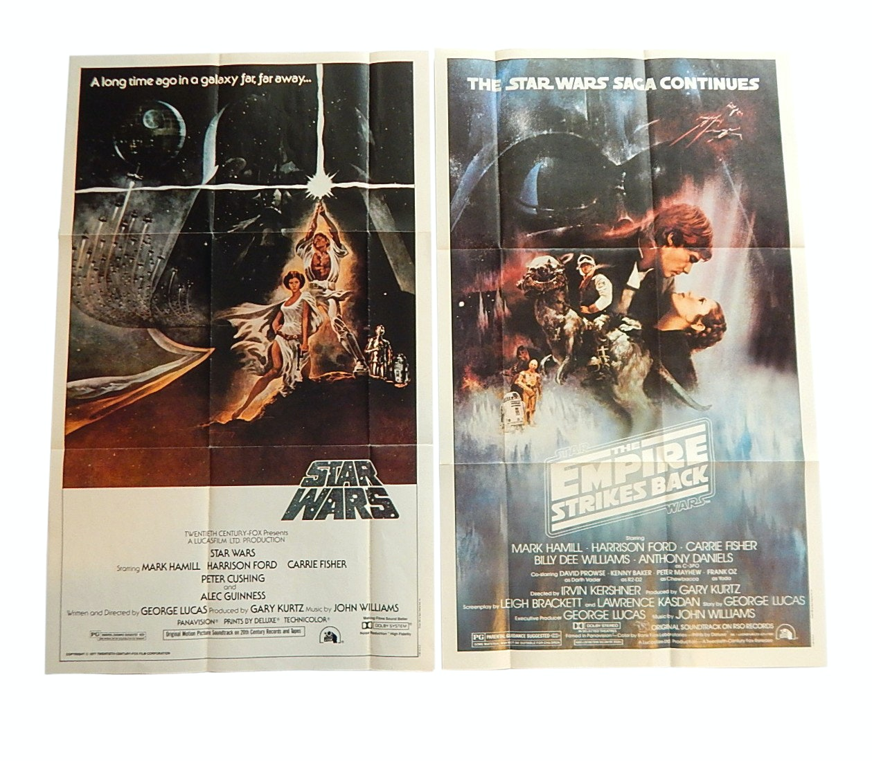"1981 Topps ""Star Wars"" Movie Fold-Out 12""x20"" Posters"