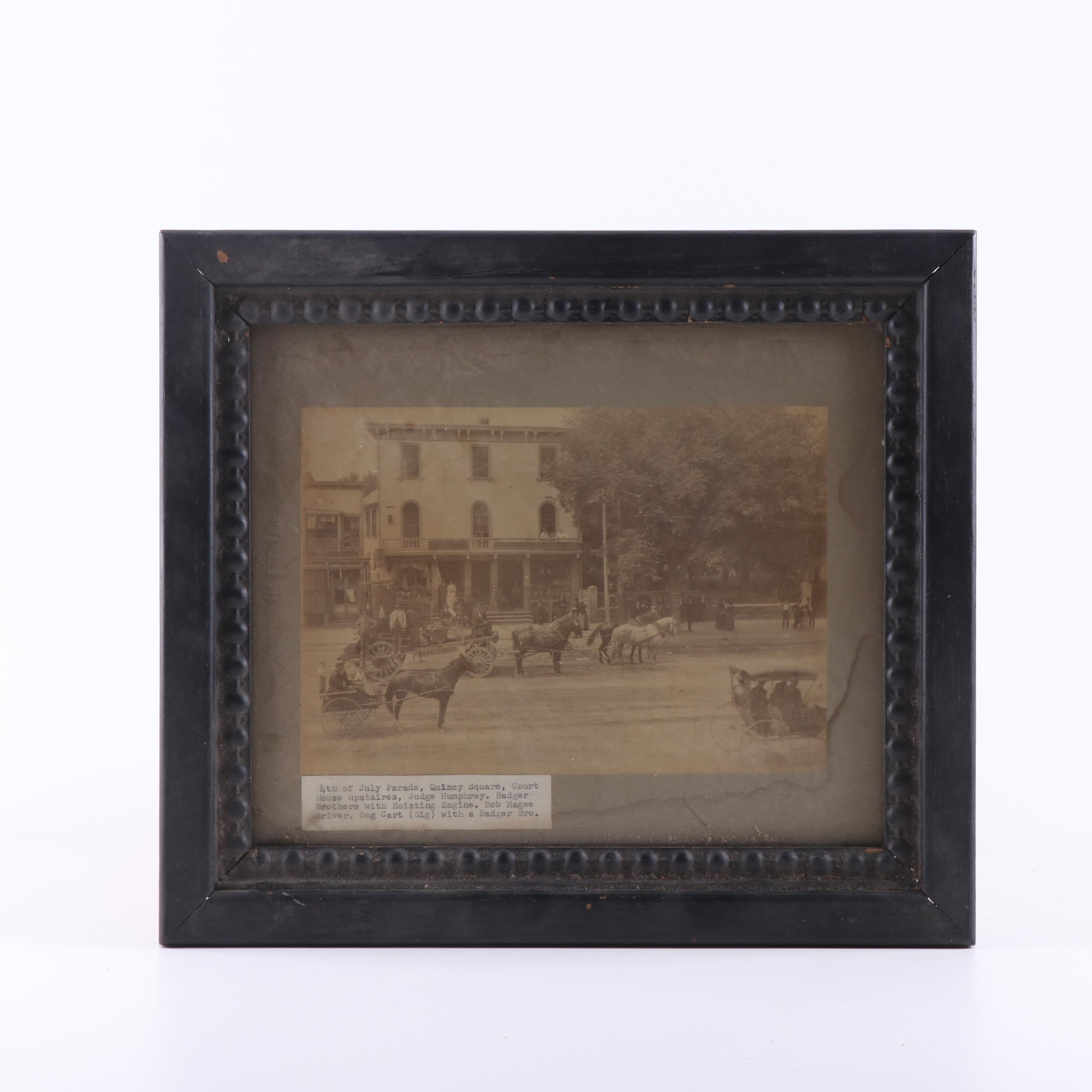 "Silver Print Photograph ""4th of July Parade, Quincy Square"""