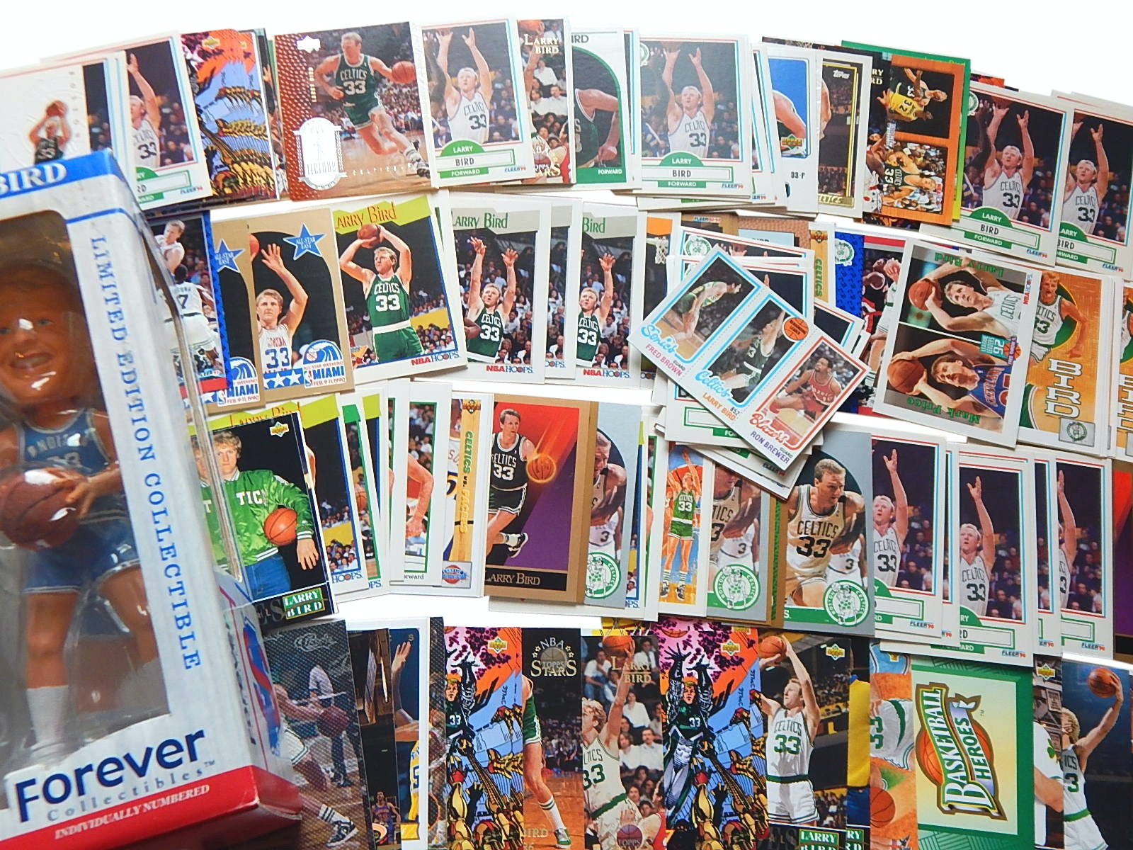 HOF Larry Bird Basketball Cards with Bobbleheads with Rookie Insert Card