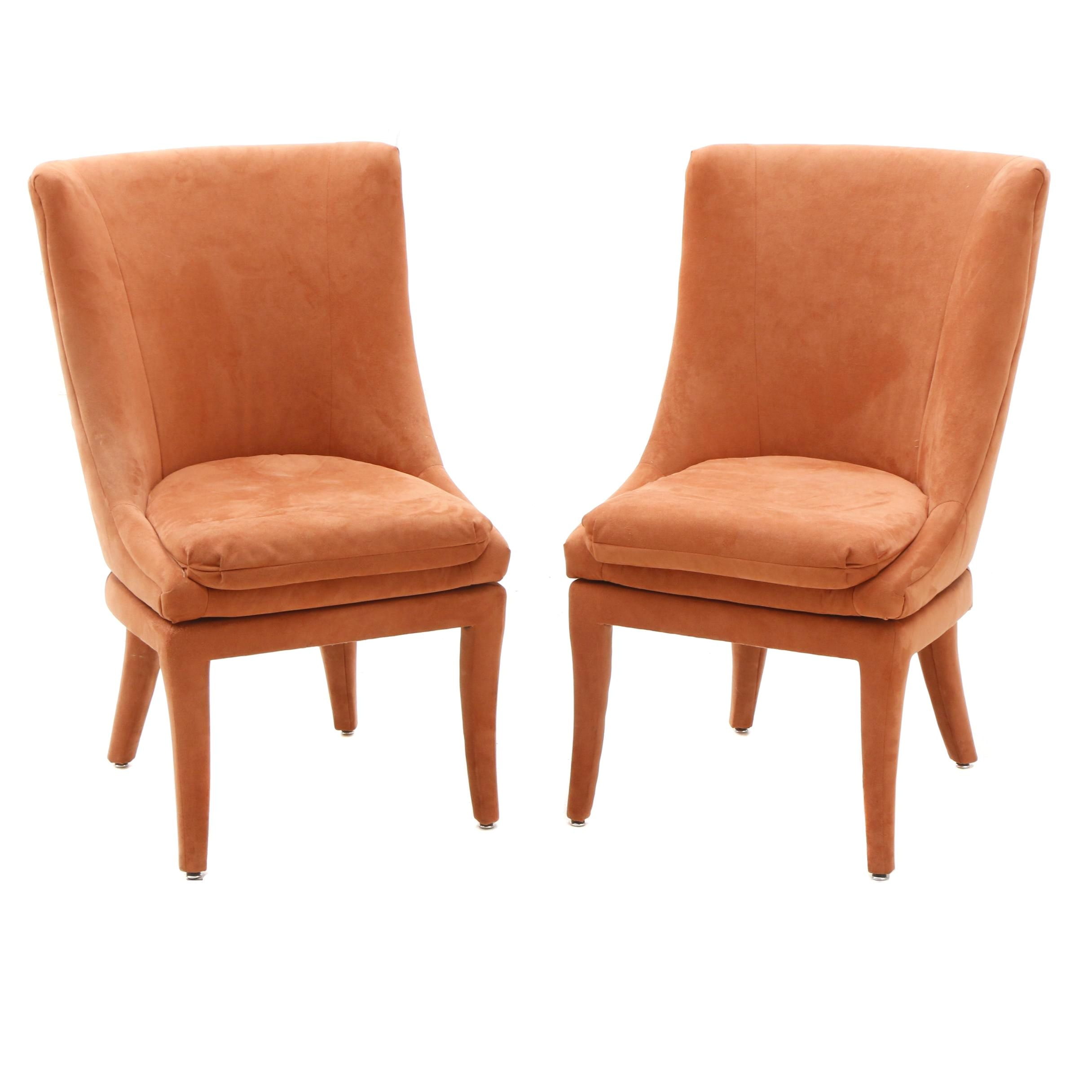 Pair of Modern Style Swivel Chairs