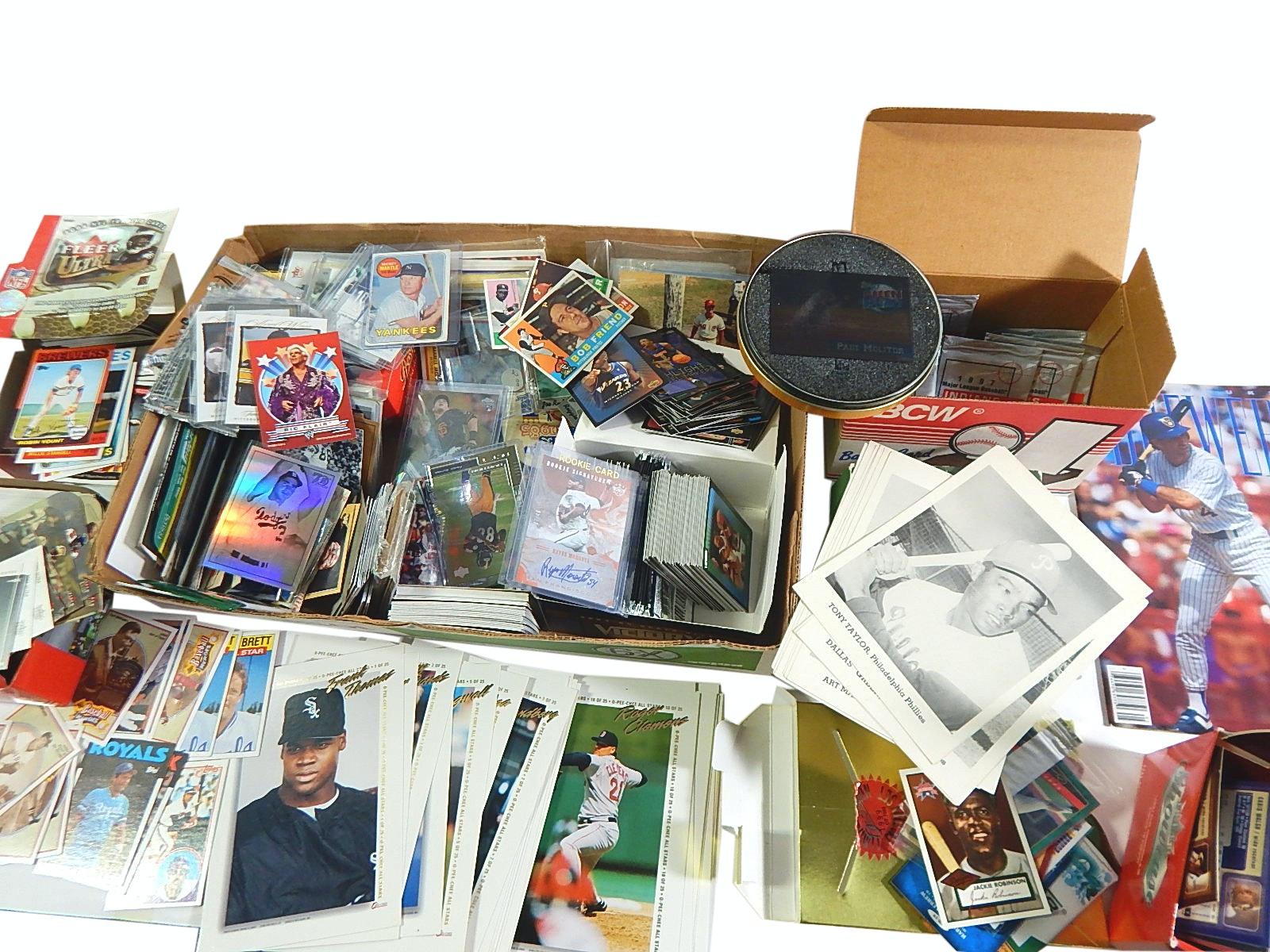 Large Sports Card and Memorabilia w/Baseball, Basketball, Football-Mantle #500