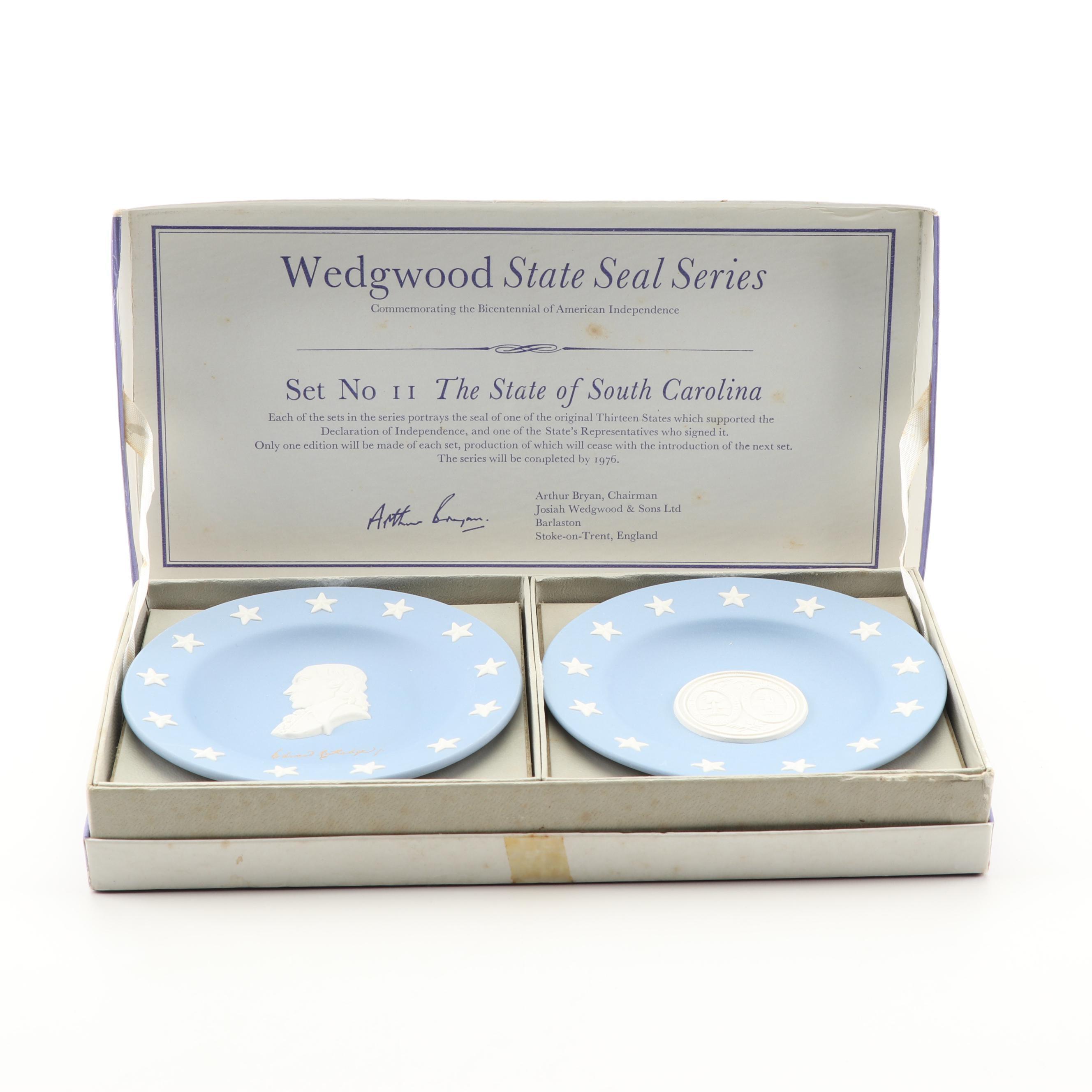 "Wedgwood Jasperware ""The State of South Carolina"" ""State Seal Series"" Dishes"