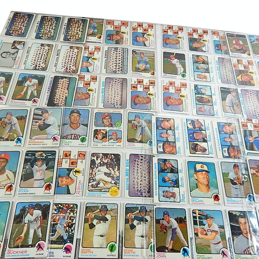 1973 Topps Baseball Card Collection In 9 Pocket Sleeves Ebth