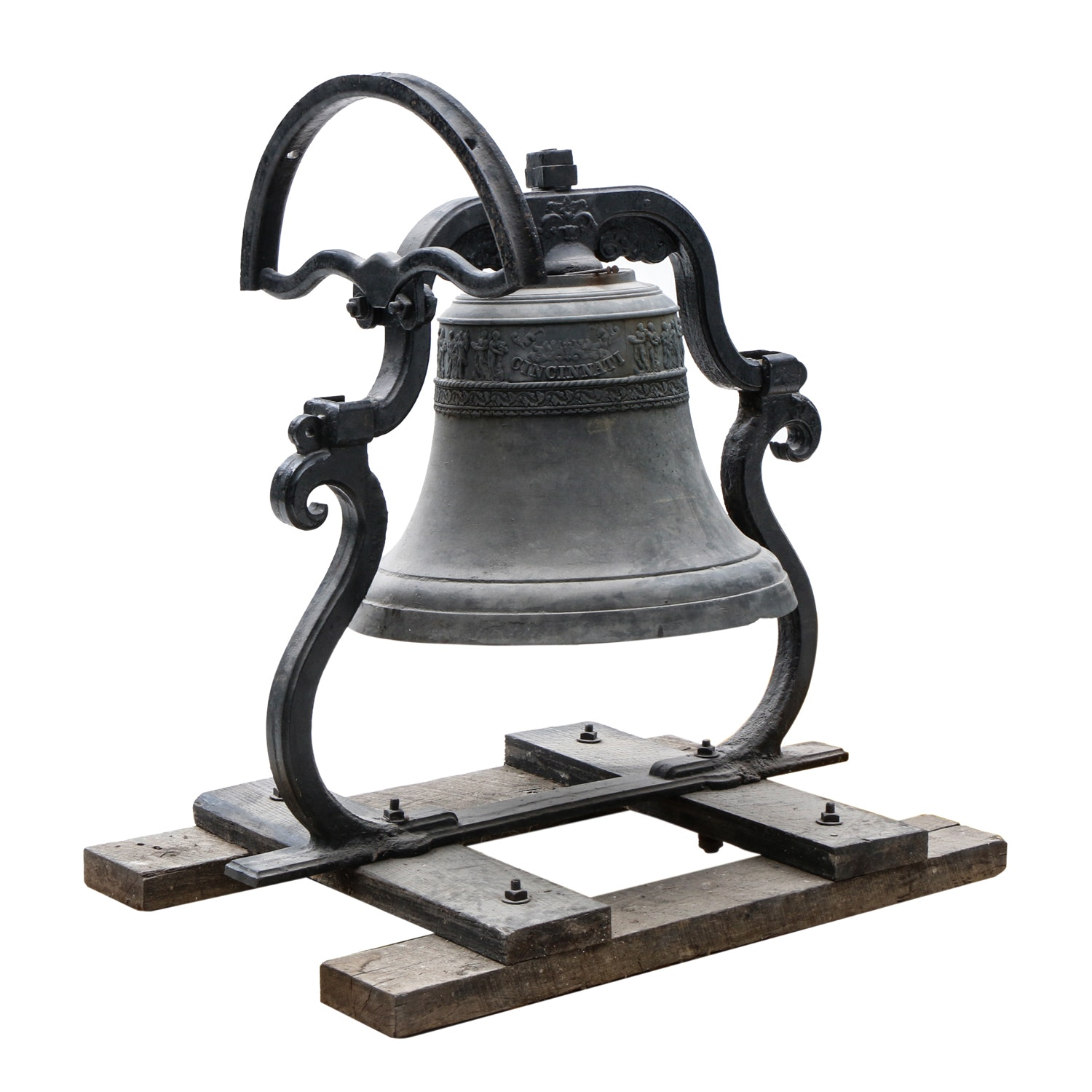 G.W. Coffin Co. Buckeye Foundry Large Bell, Mid 19th Century