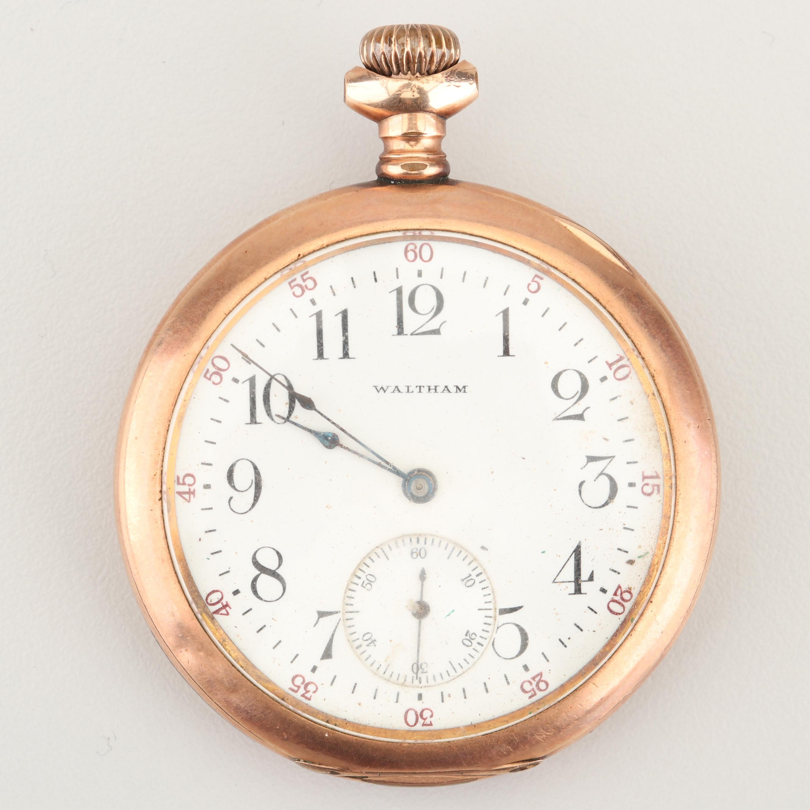 Antique Waltham Gold Filled Pocket Watch