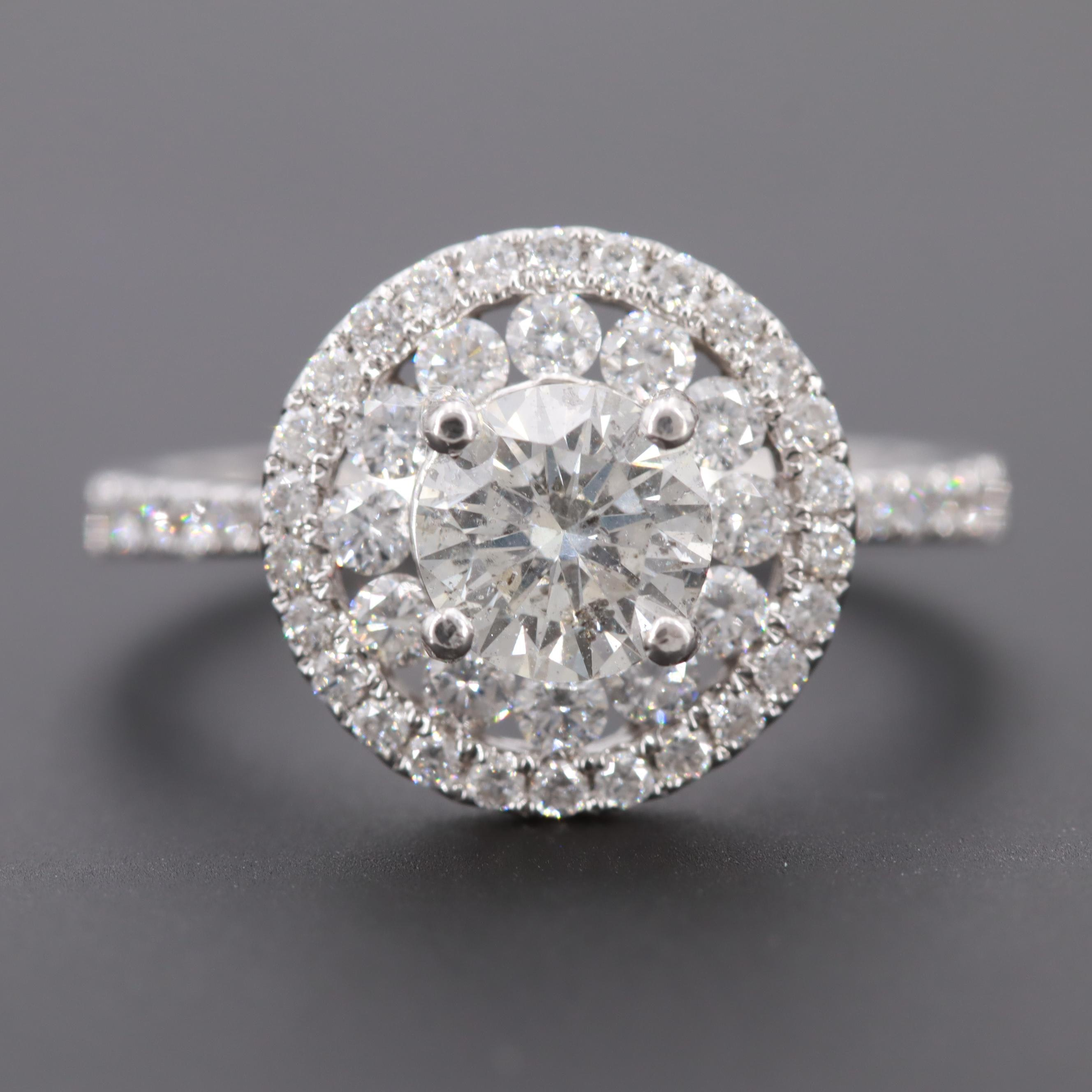S. Kashi 14K White Gold 1.64 CTW Diamond Ring