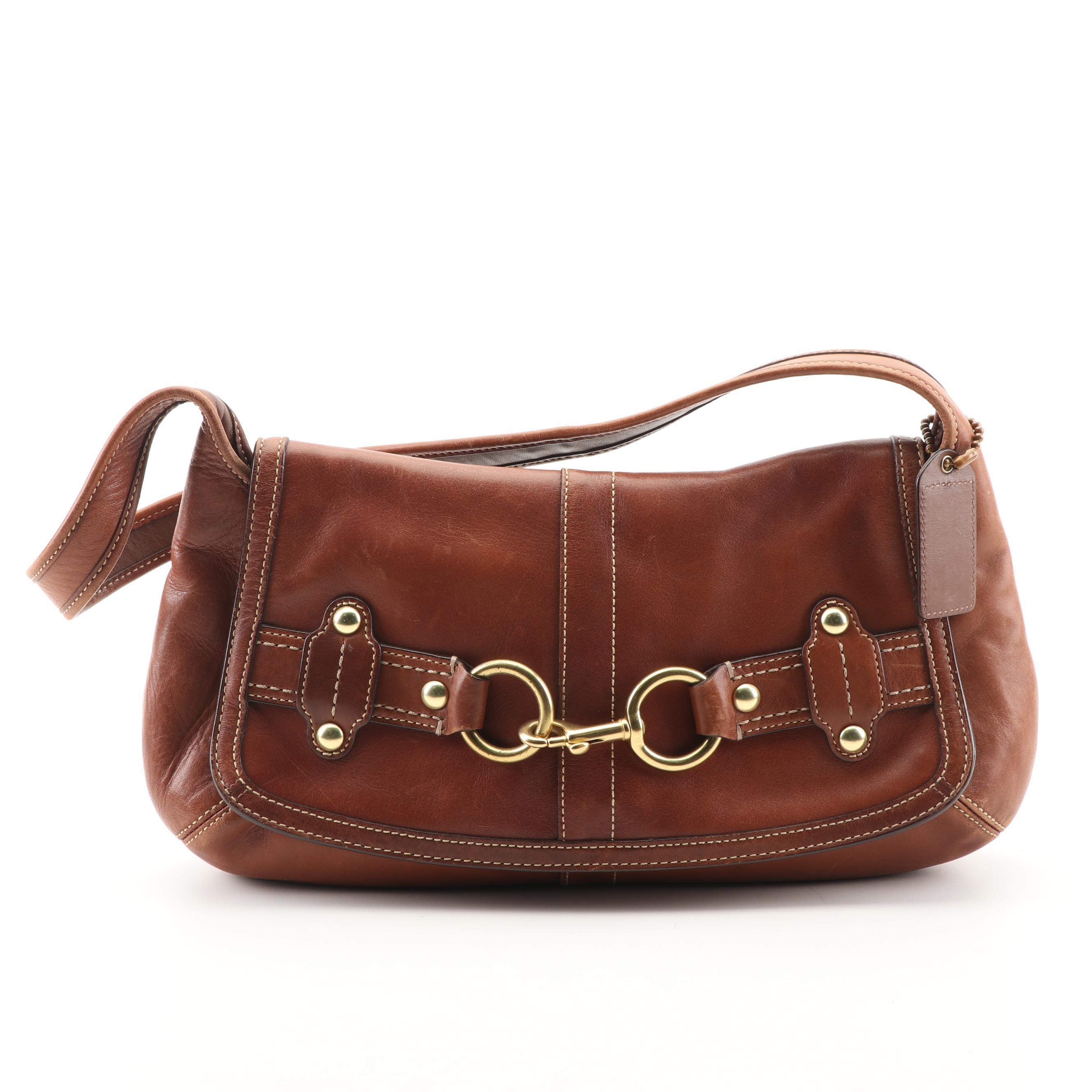 Coach Ergo Purse Brown Leather Belted Handbag