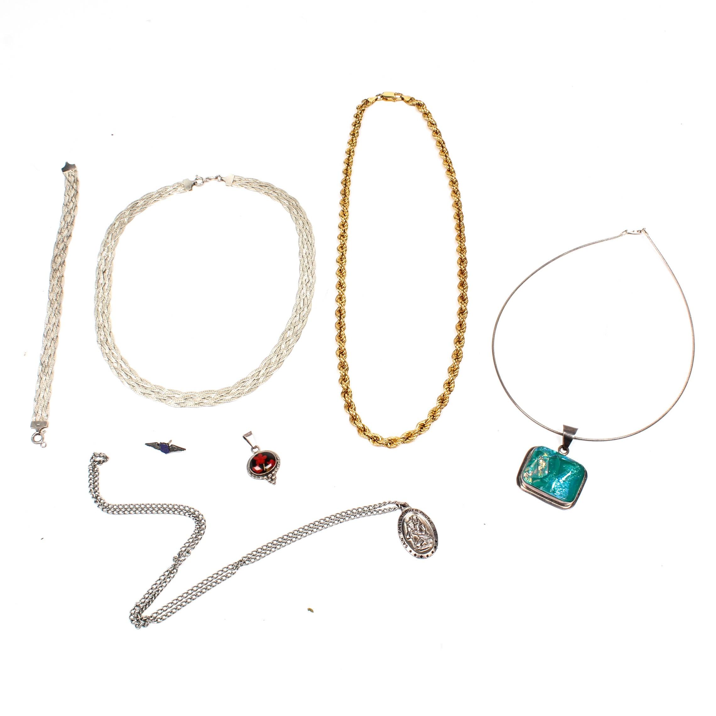 Sterling Silver Necklaces, Bracelet and Pendants