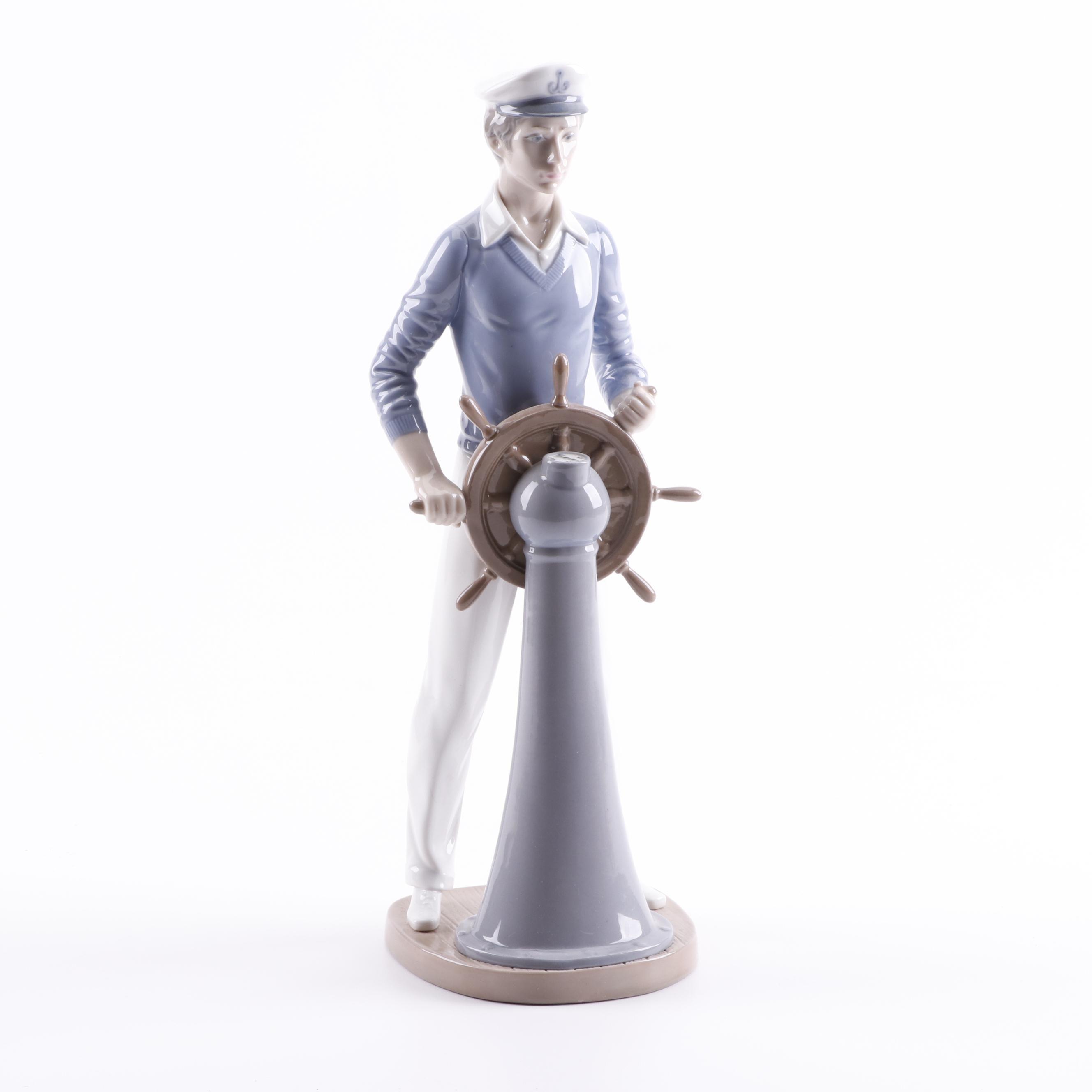 """Lladró """"Yachtsman"""" Porcelain Figurine"""