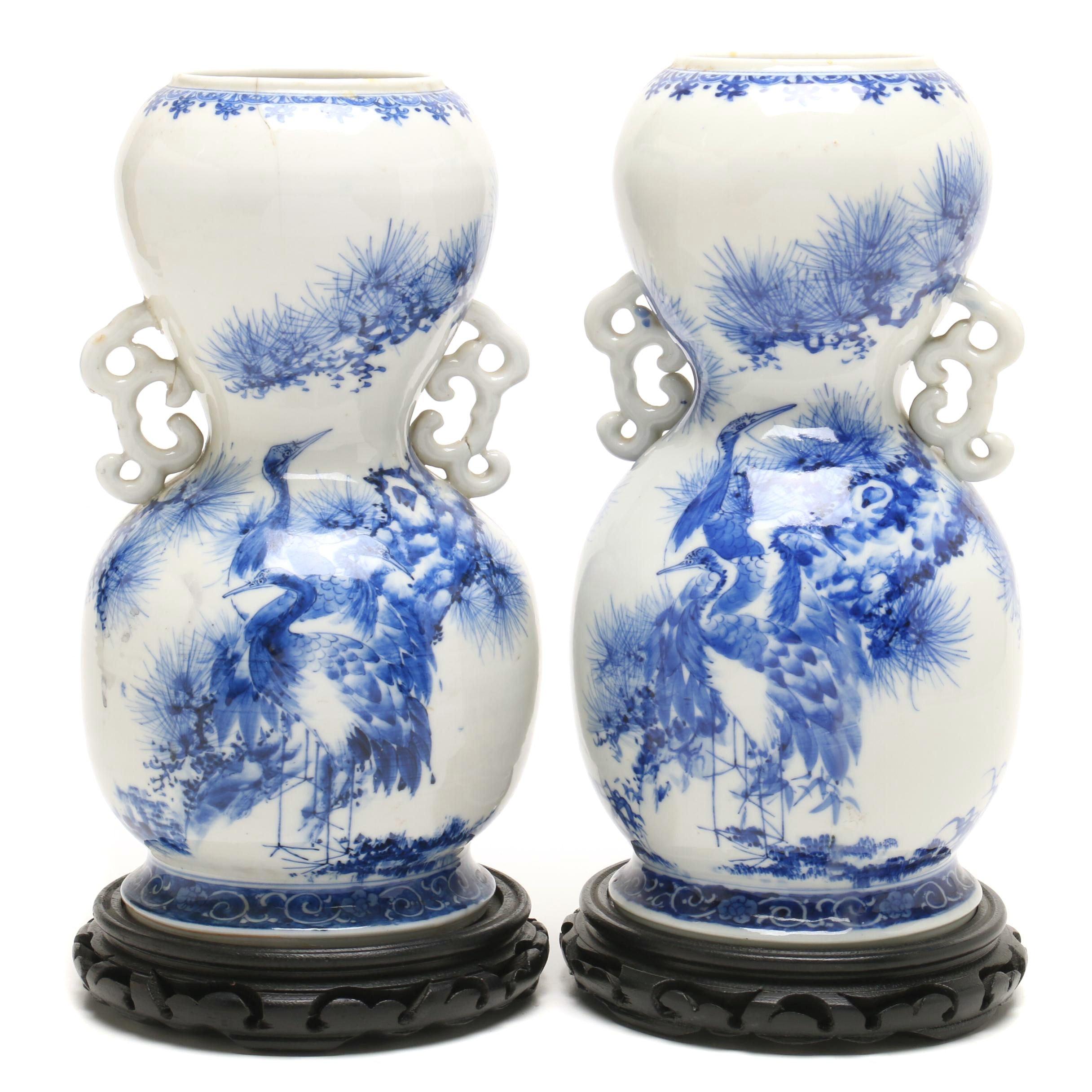 Japanese Seto Ware Vases