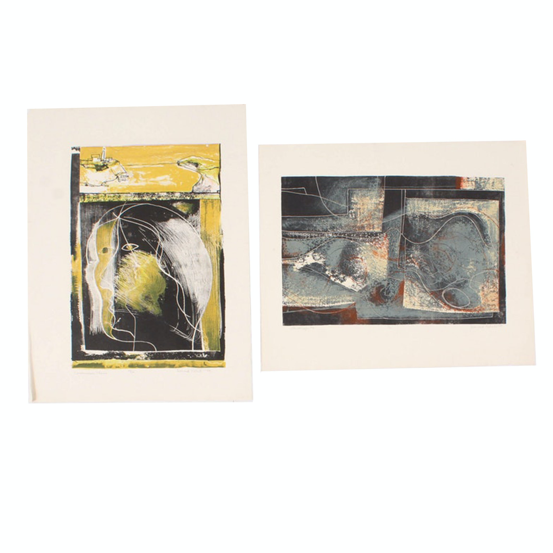 "Donald Roberts Serigraphs ""Calderwood's Place"" and ""Landscape #4"""
