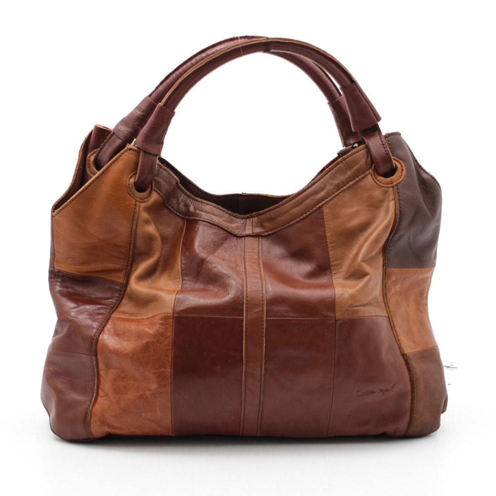 Cobbler Legend Patchwork Leather Handbag