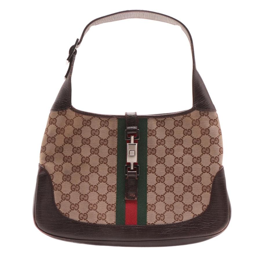 a5a3223678d Gucci GG Canvas Web Jackie O Hobo Bag   EBTH