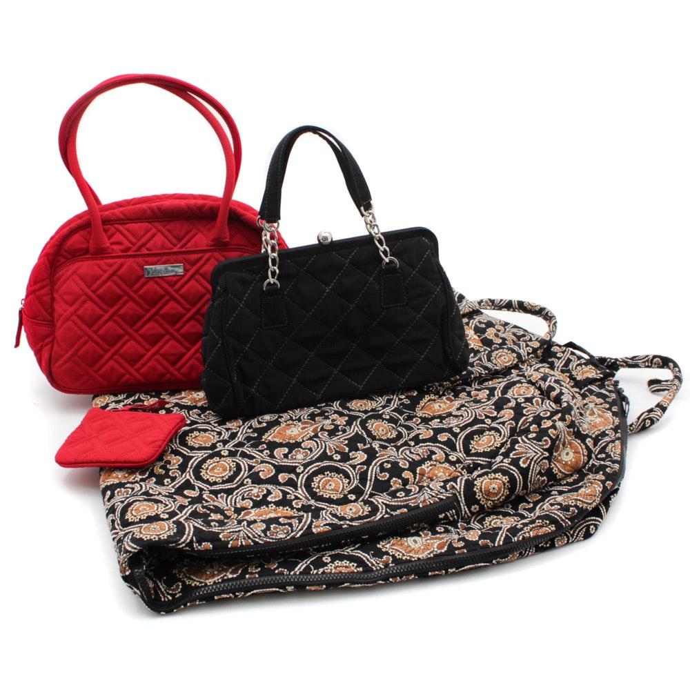 Vera Bradley Quilted Handbags and Garment Bag