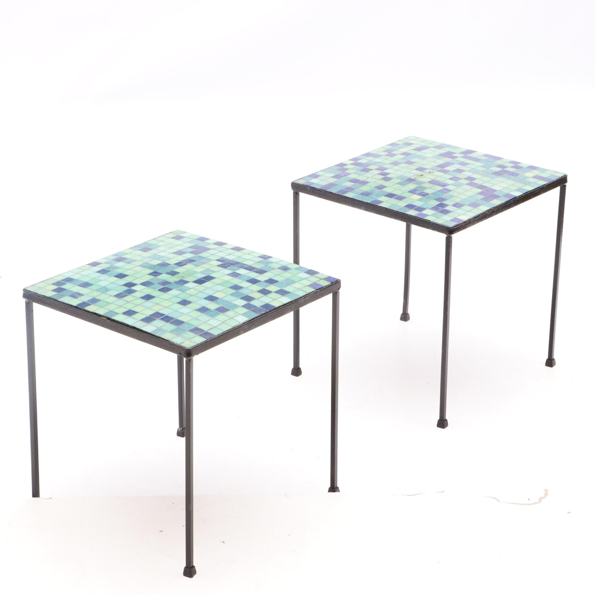 Pair of Tile Top End Tables