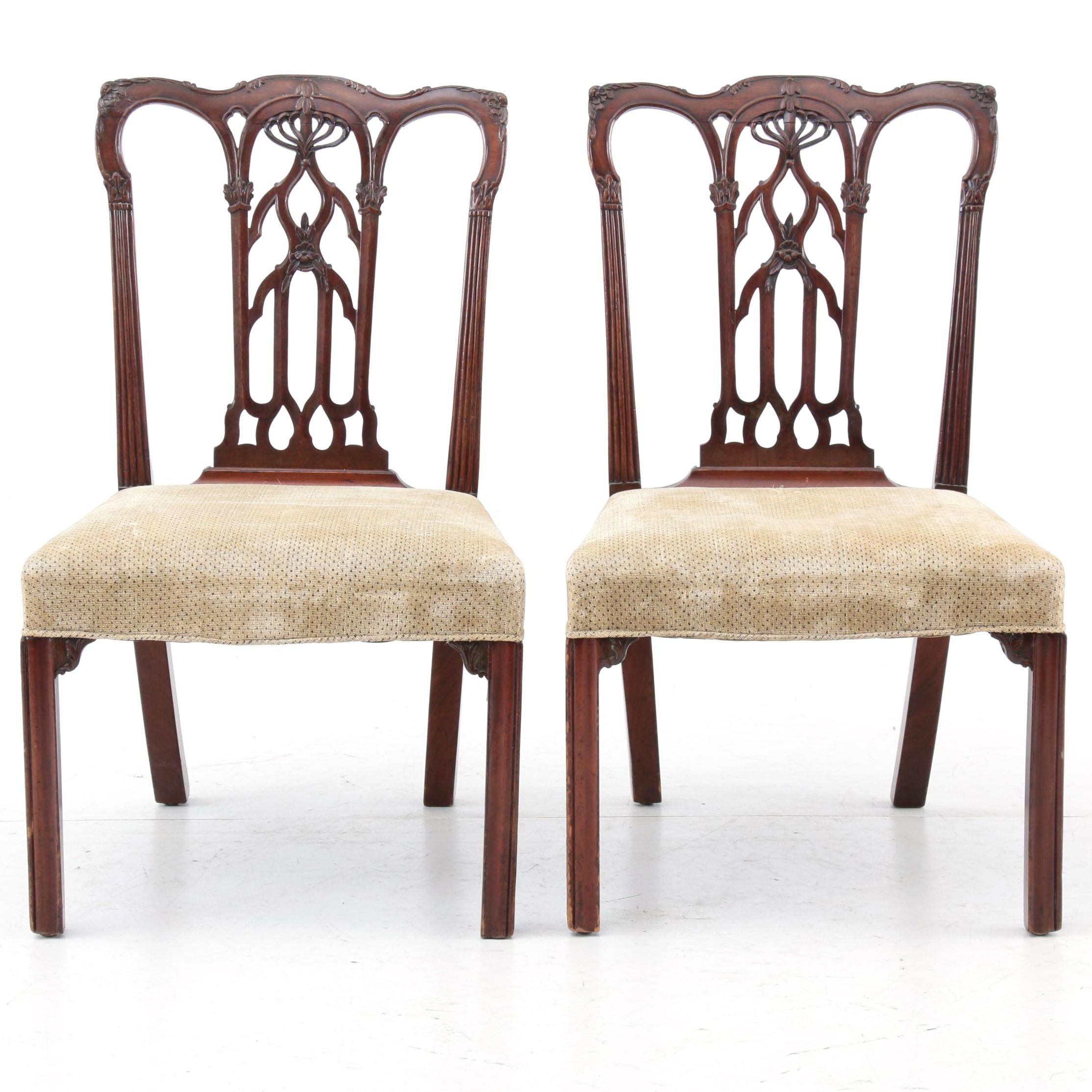 Pair of Chippendale Mahogany Side Chairs, Late 18th Century